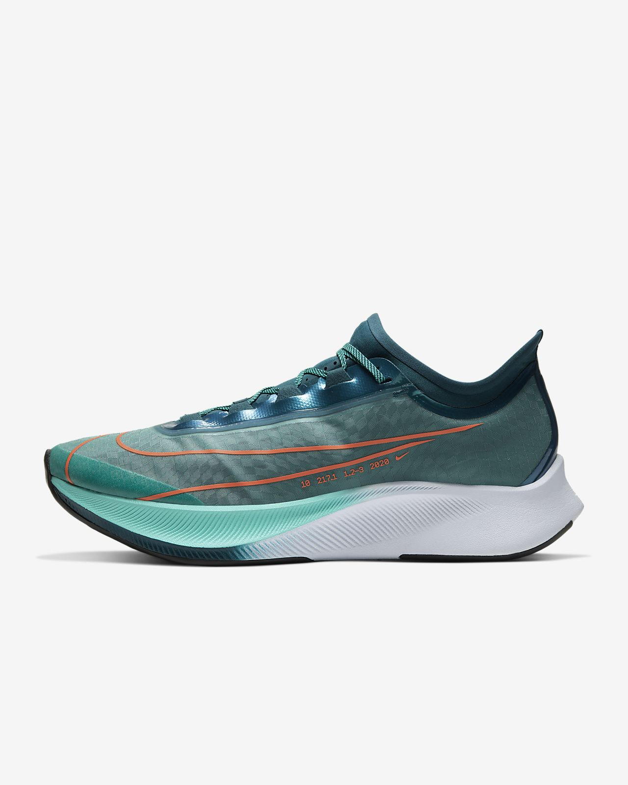Nike Zoom Fly3 Mens Blue Running Shoes | Online Sale
