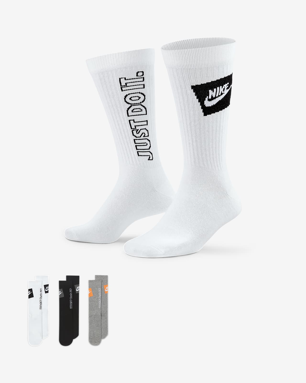 Calcetines deportivos Nike Sportswear Everyday Essential (3 pares)