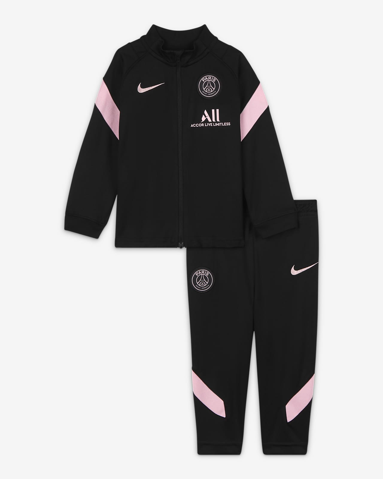 Tuta da calcio in maglia Nike Dri-FIT Paris Saint-Germain Strike per neonati/bimbi piccoli - Away