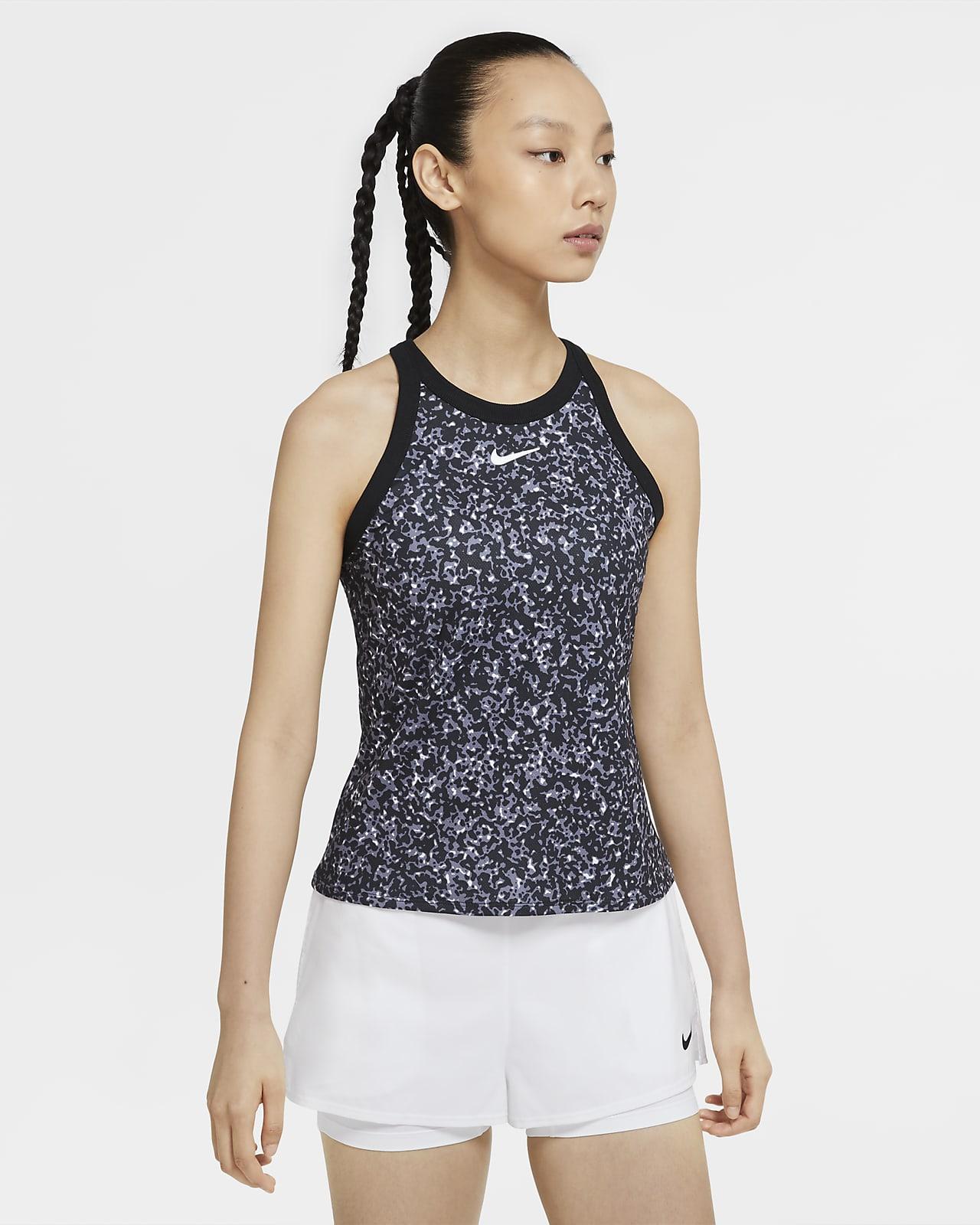 NikeCourt Dri-FIT Camiseta de tirantes de tenis con estampado - Mujer