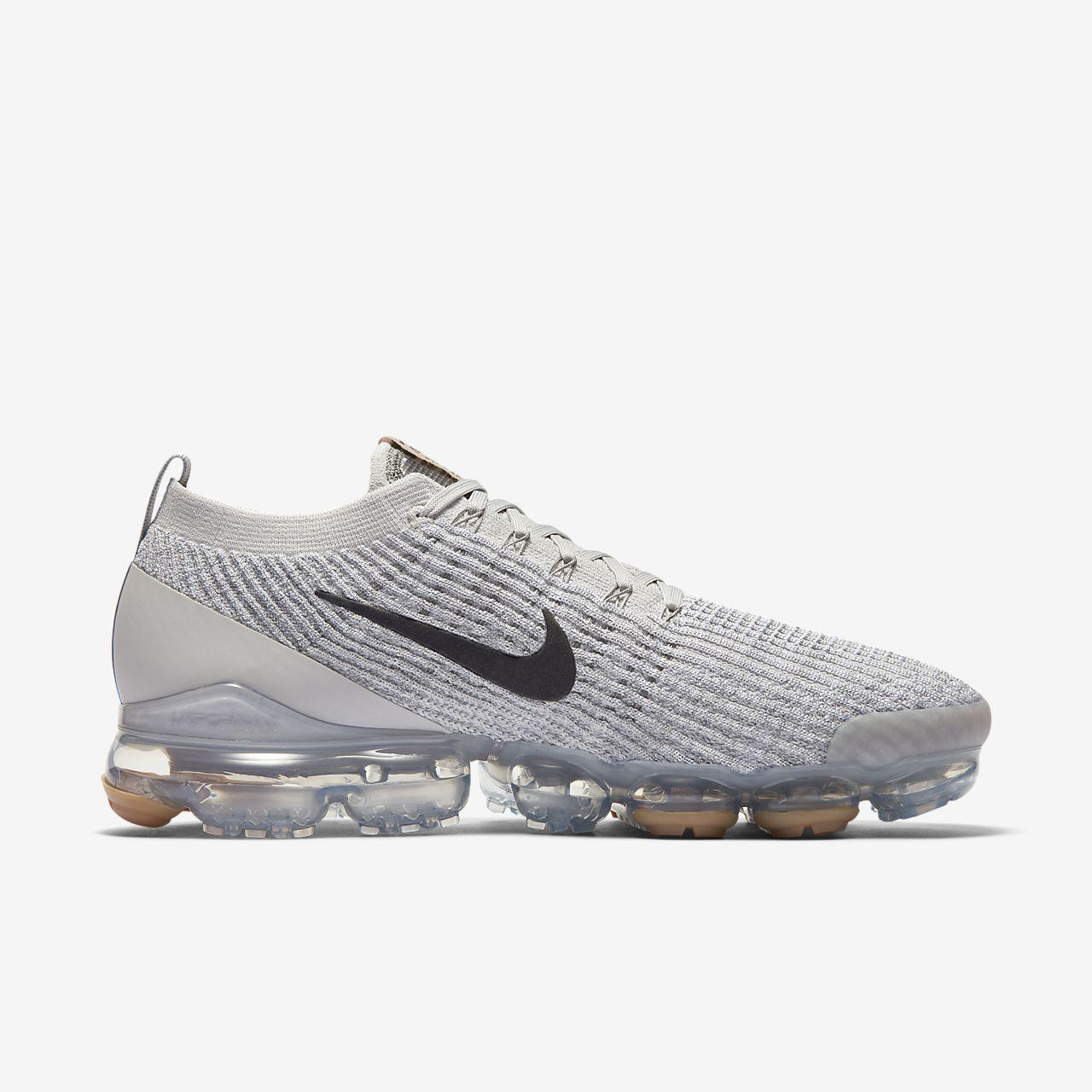 Tênis Nike Air Max Vapormax 3 Branco e Cinza Claro