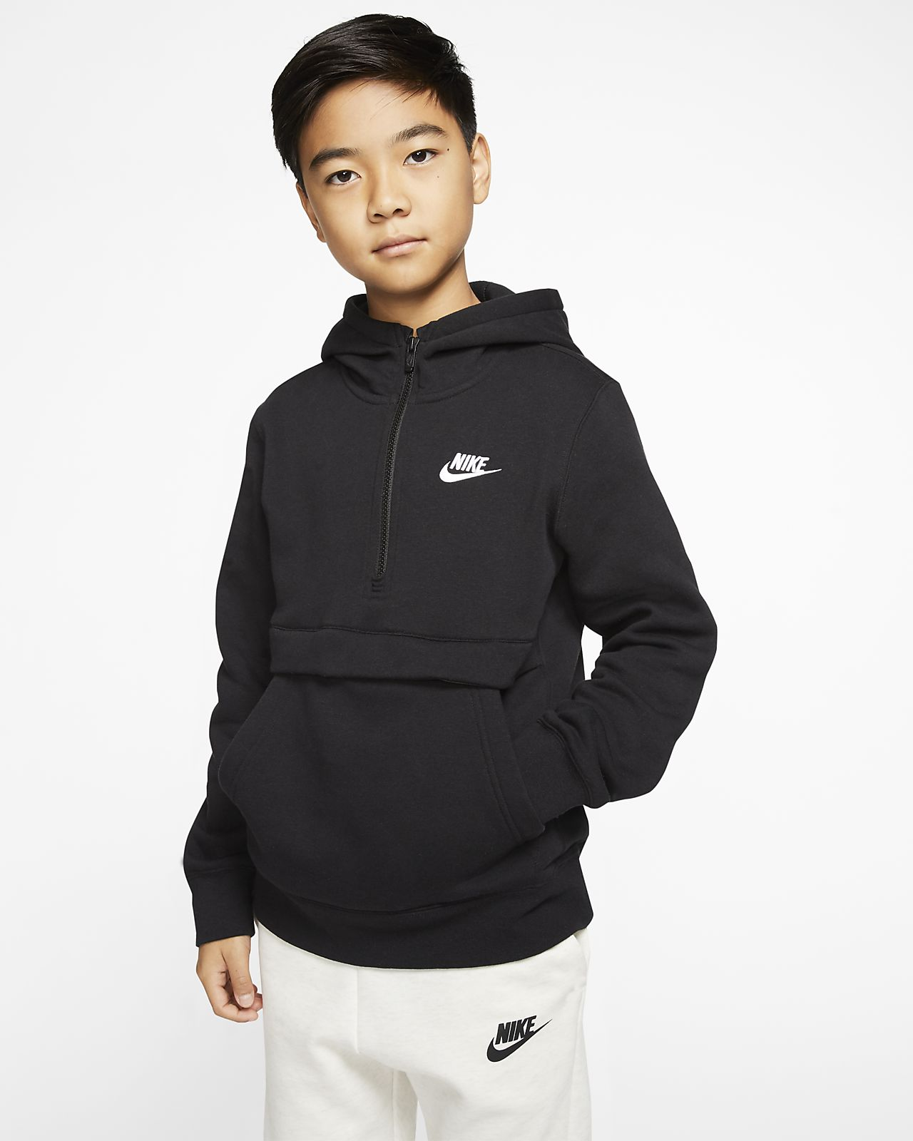 Nike Sportswear Club Big Kids' (Boys') 1/2-Zip Hoodie