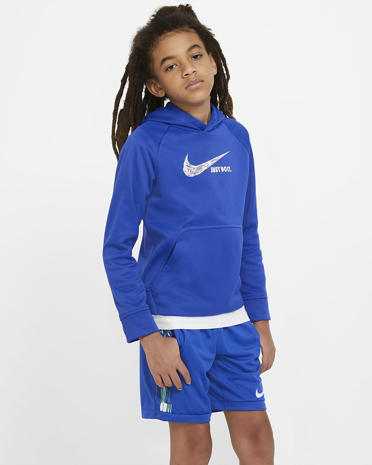 Nike Therma Big Kids' (Boys') Graphic Pullover Hoodie