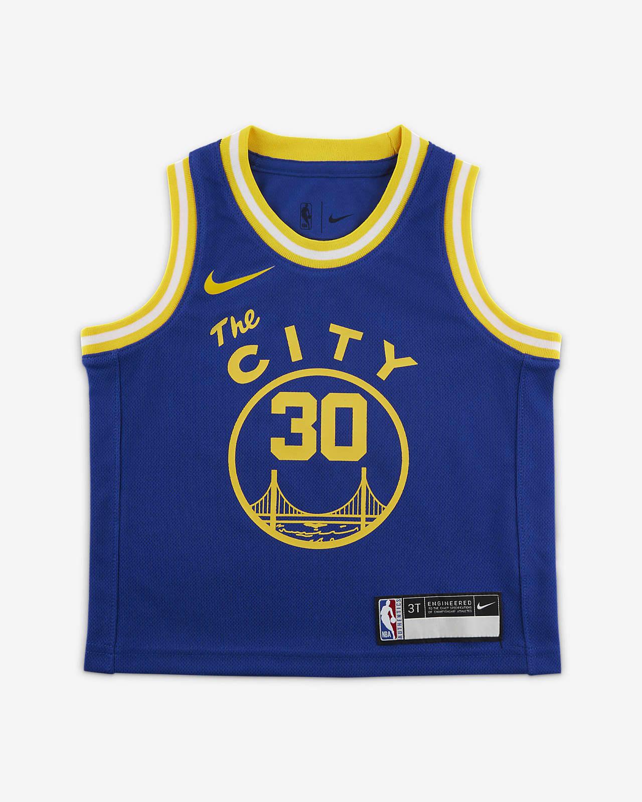 金州勇士队 (Stephen Curry) Classic Edition Nike NBA Swingman Jersey 婴童球衣