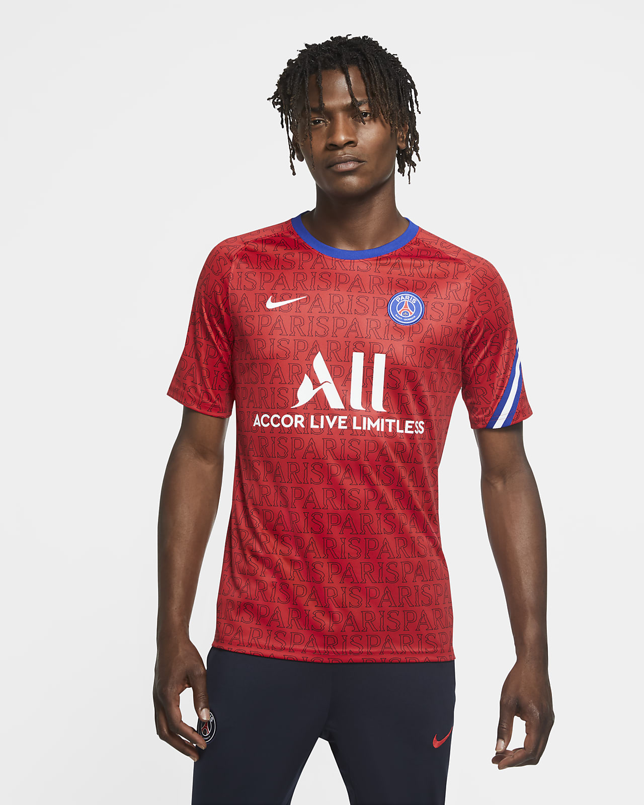 Paris Saint-Germain Men's Short-Sleeve Football Top