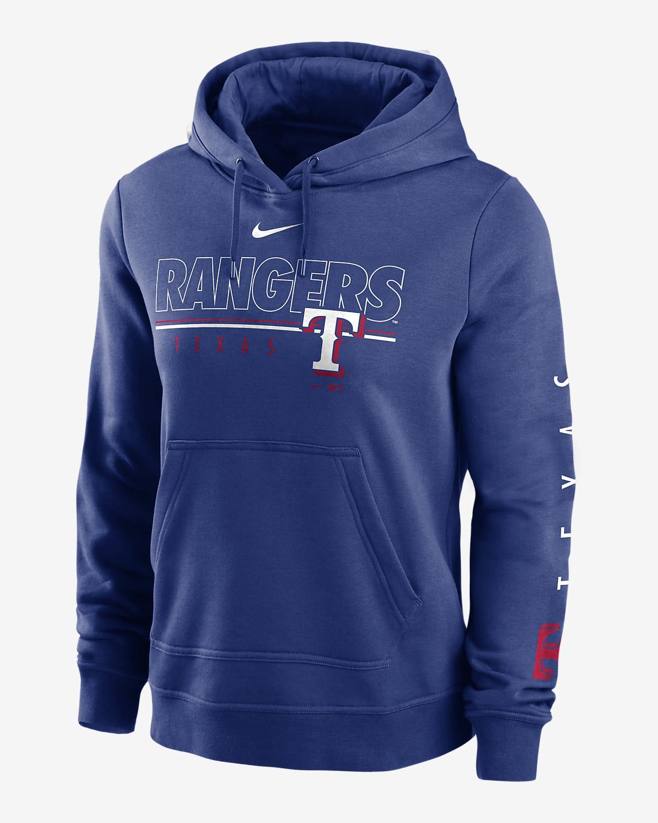 Nike Outline Club (MLB Texas Rangers) Women's Pullover Hoodie