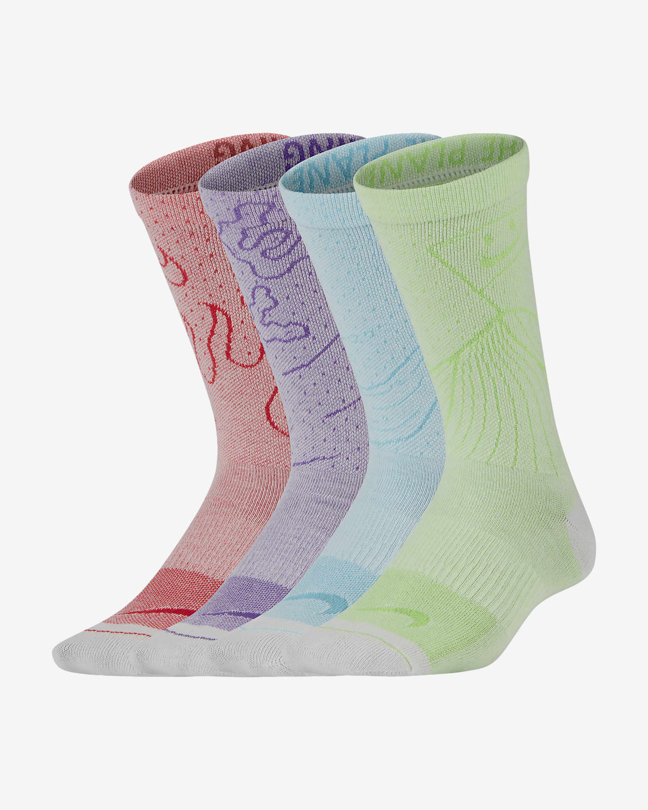 Nike Swoosh Lightweight Older Kids' Crew Socks (2 Pairs)