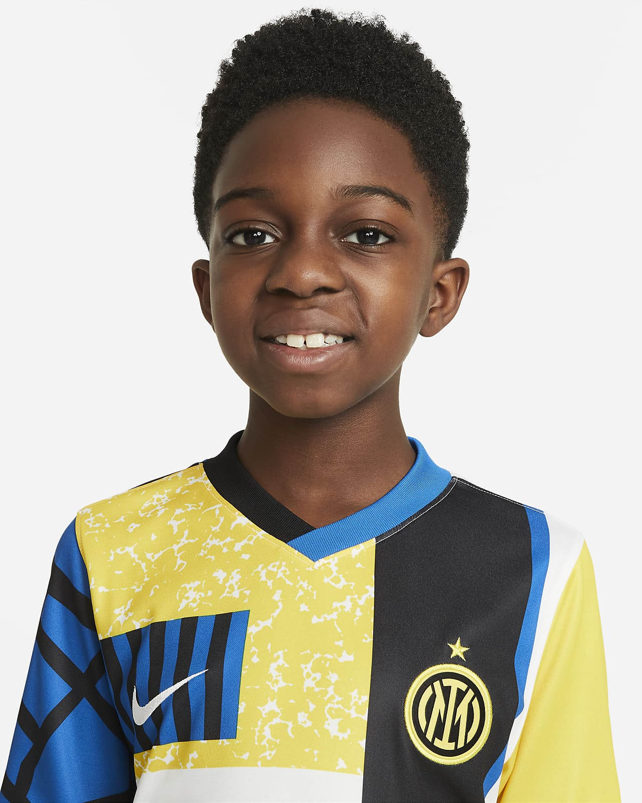 Camiseta de fútbol Nike Dri-FIT para niños talla grande Inter Milan 2021/22 Stadium Fourth
