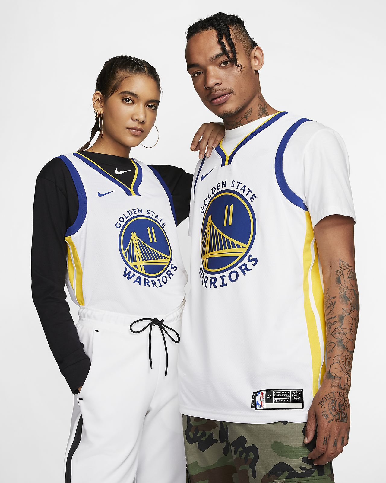 Klay Thompson Warriors Association Edition Nike NBA Swingman Jersey