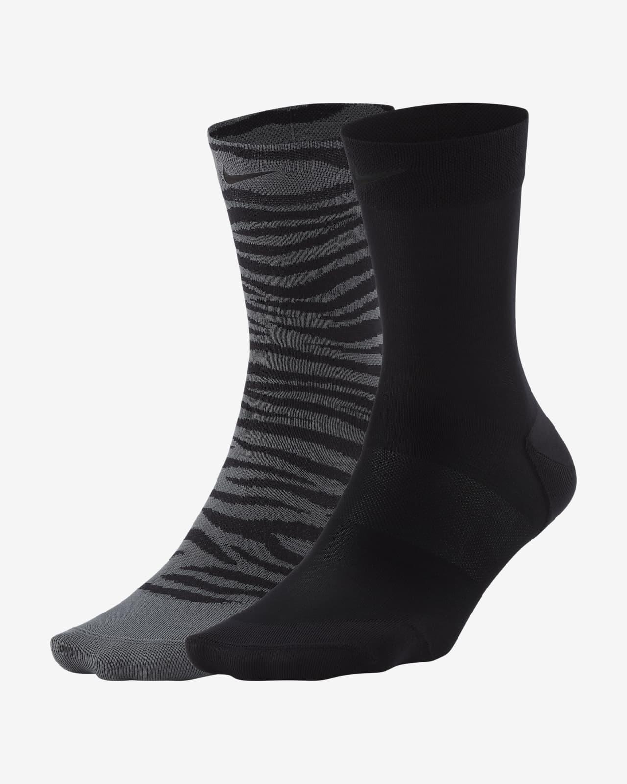 Calcetines hasta el tobillo de entrenamiento para mujer Nike Sheer (2 pares)