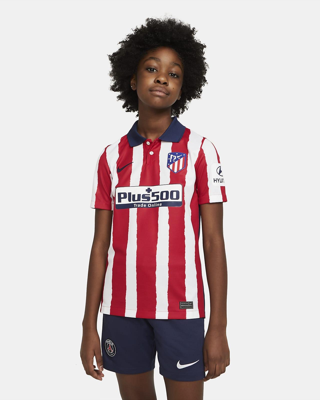 Atlético de Madrid 2020/21 Stadium Home-fodboldtrøje til store børn