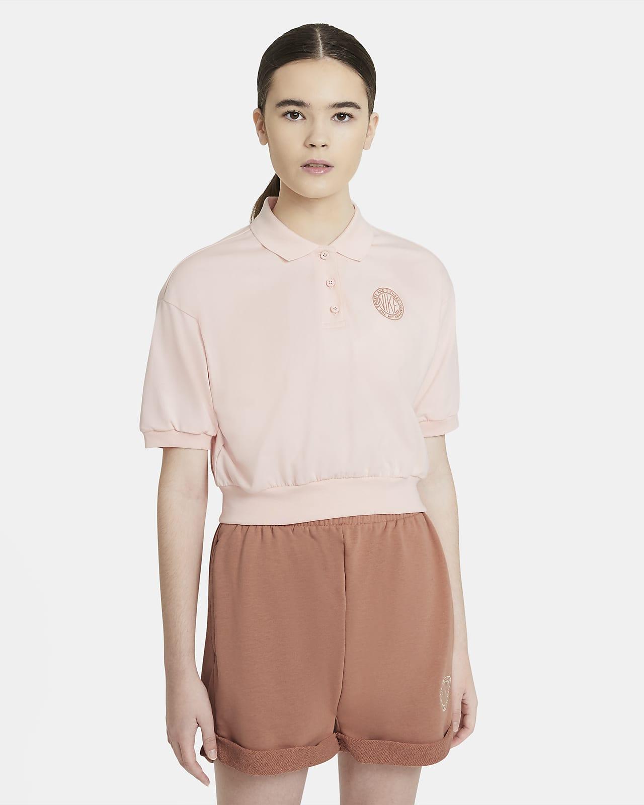 Krótka koszulka damska z kołnierzykiem Nike Sportswear Femme