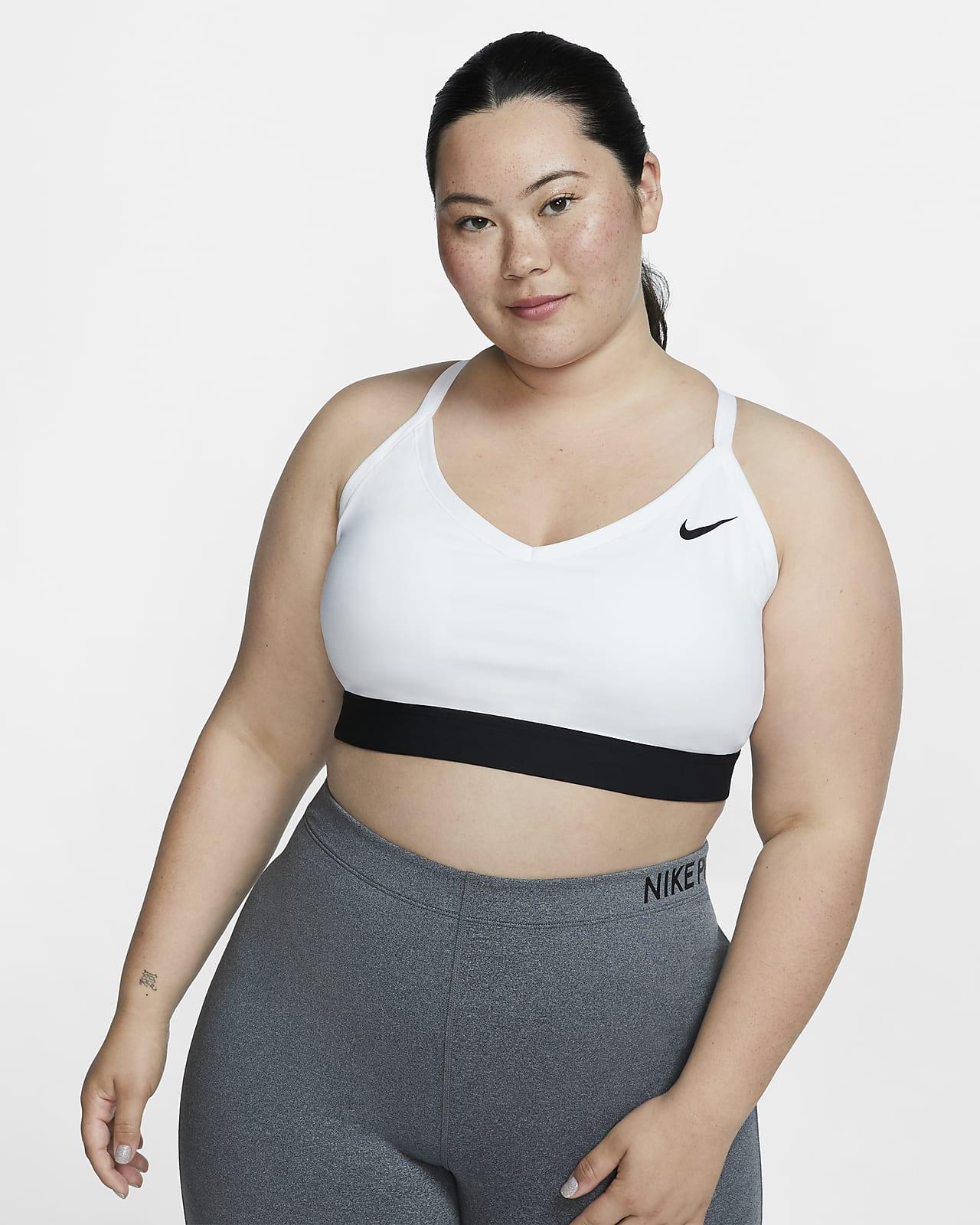 Sujetador deportivo acolchado de sujeción ligera para mujer (talla grande) Nike Dri-FIT Indy