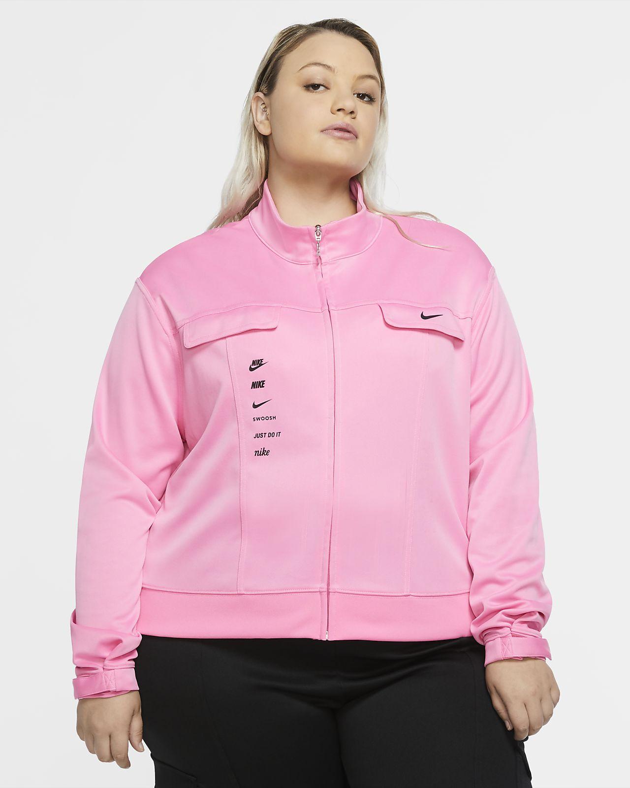 Nike Sportswear Swoosh polystrikket jakke til dame (Plus Size)