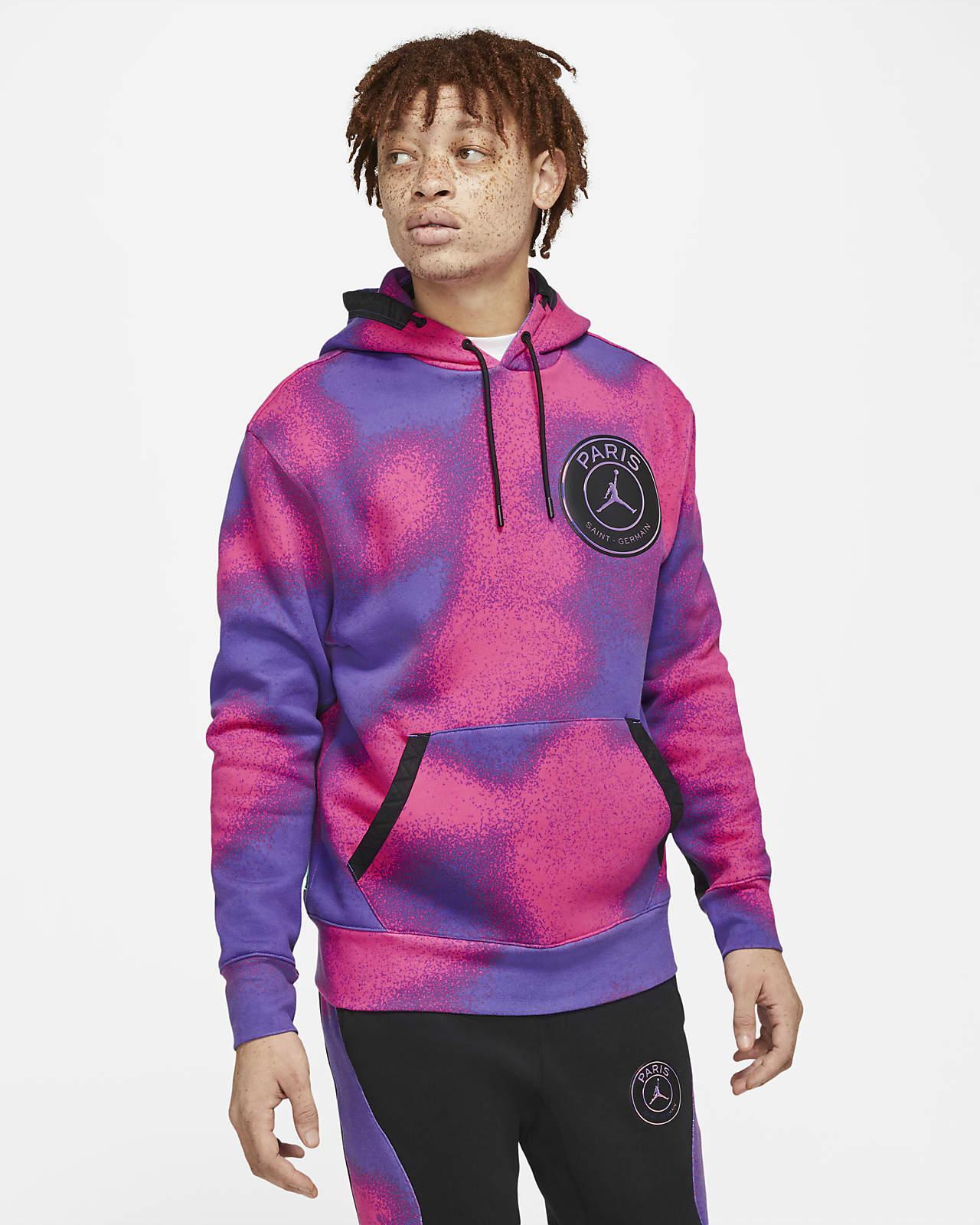 Paris Saint-Germain Baskılı Fleece Erkek Kapüşonlu Sweatshirt'ü