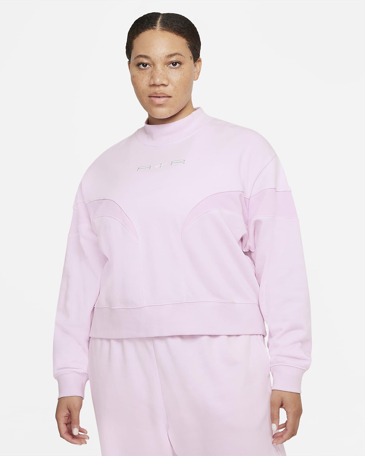 Sudadera de cuello alto de tejido Fleece para mujer talla grande Nike Air