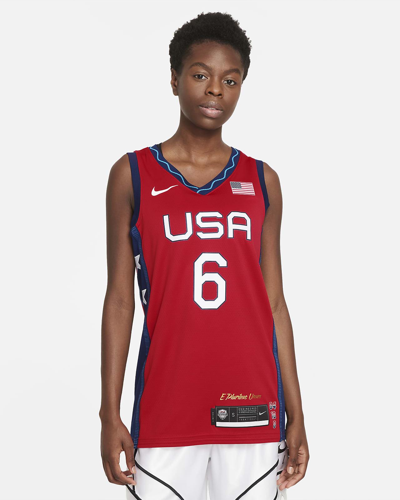 Maglia da basket Nike Team USA (Sue Bird) da donna - Road