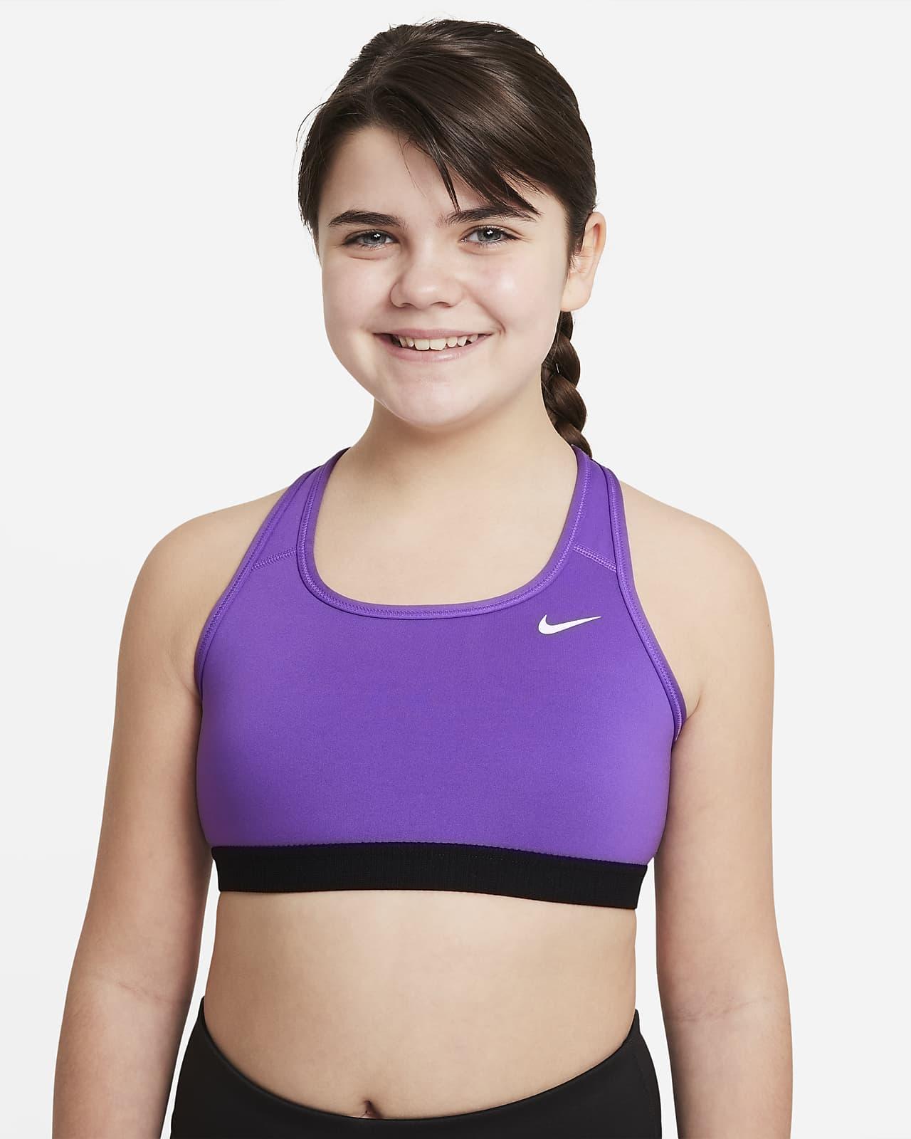 Nike Swoosh Big Kids' (Girls') Sports Bra (Extended Size)