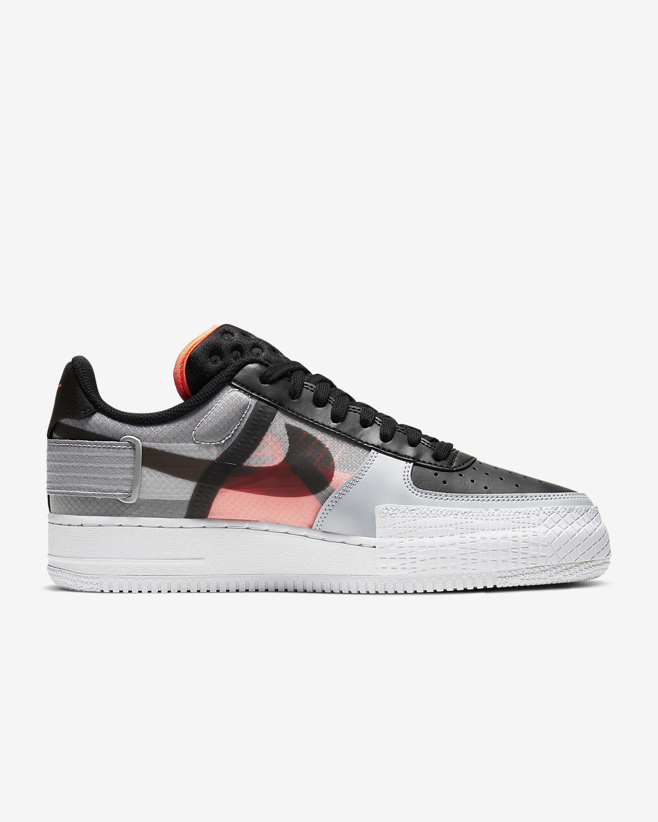 Nike Men's Air Force 1 Low Type (White | Black | Volt