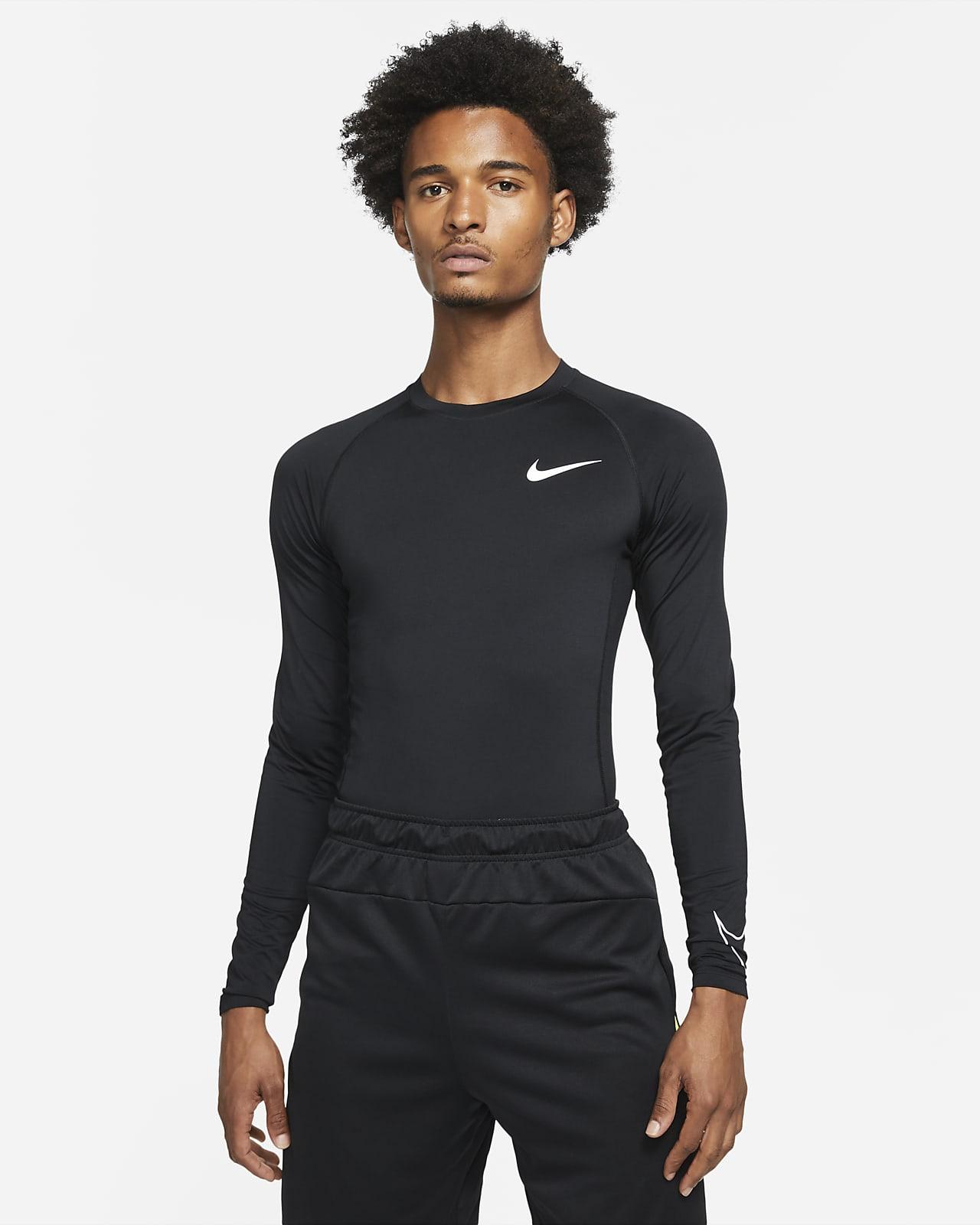 Pánské přiléhavé tričko Nike Pro Dri-FIT sdlouhým rukávem