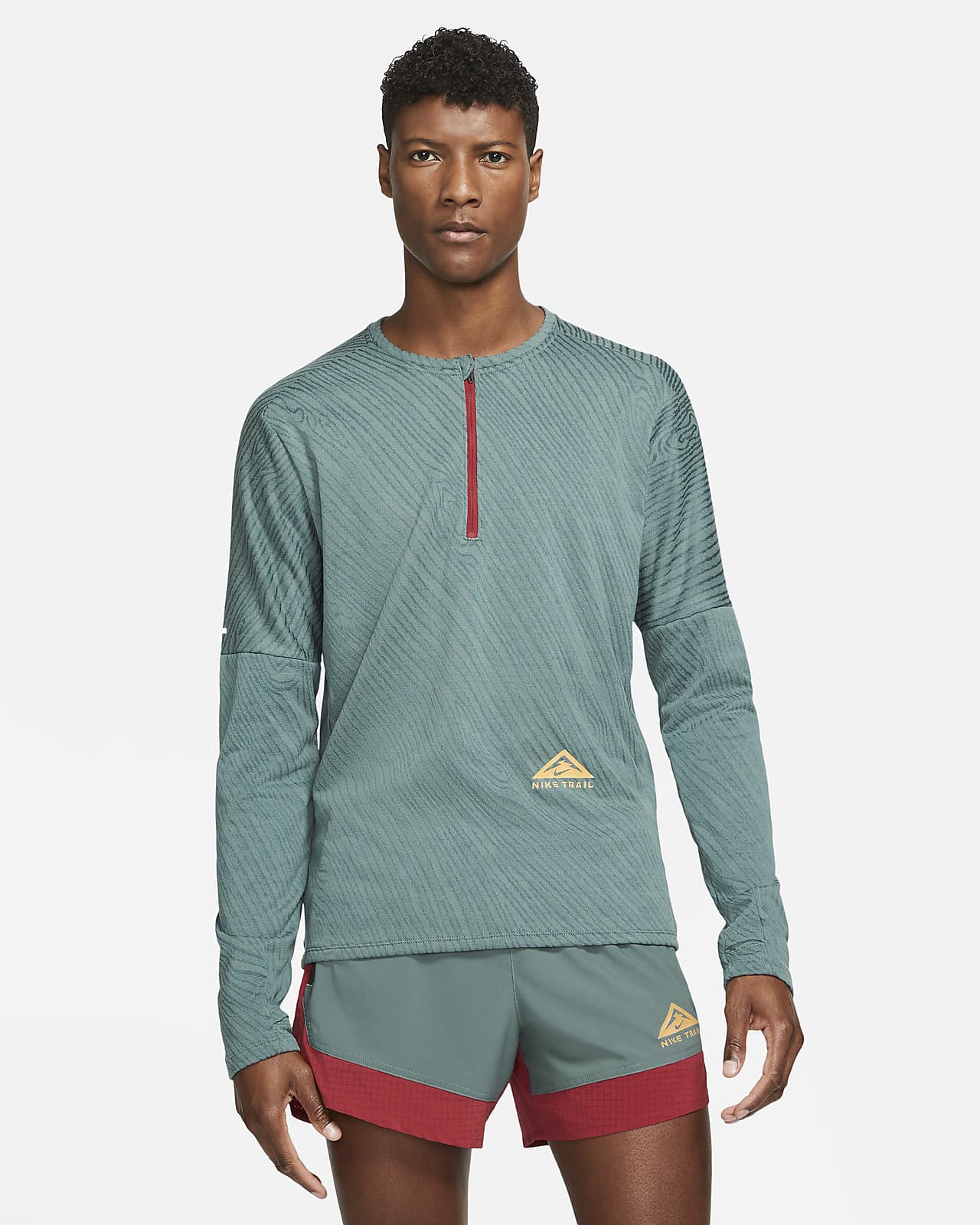 Camiseta de trail running con medio cierre para hombre Nike Dri-FIT Element