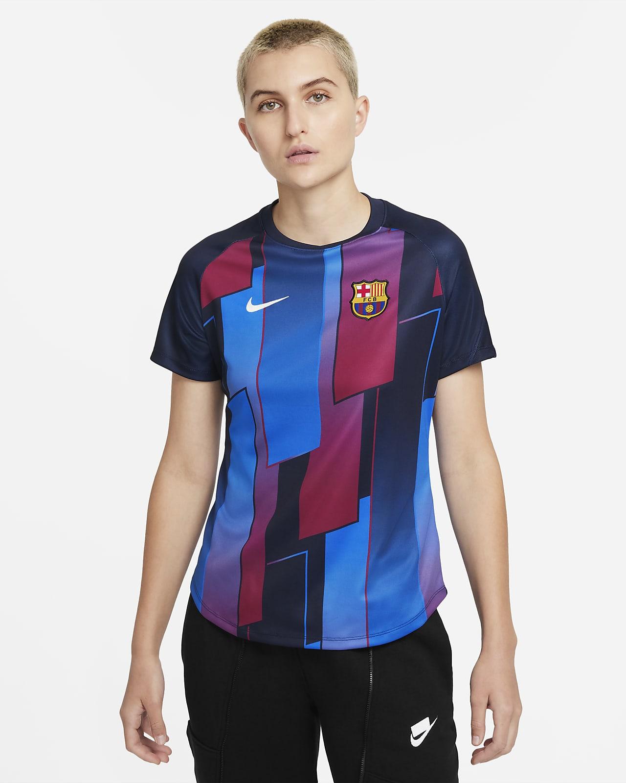FC Barcelona Kısa Kollu Kadın Maç Öncesi Futbol Üstü