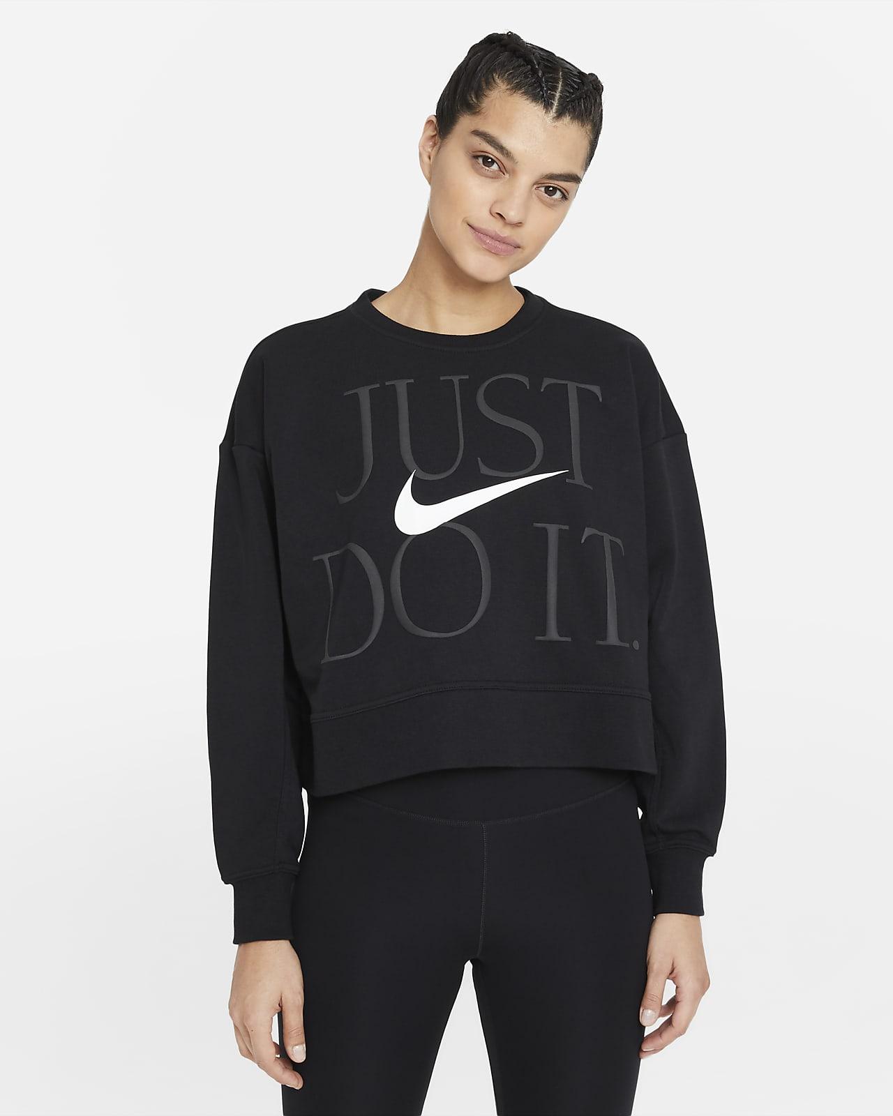Nike Dri-FIT Get Fit Trainingsshirt met ronde hals voor dames