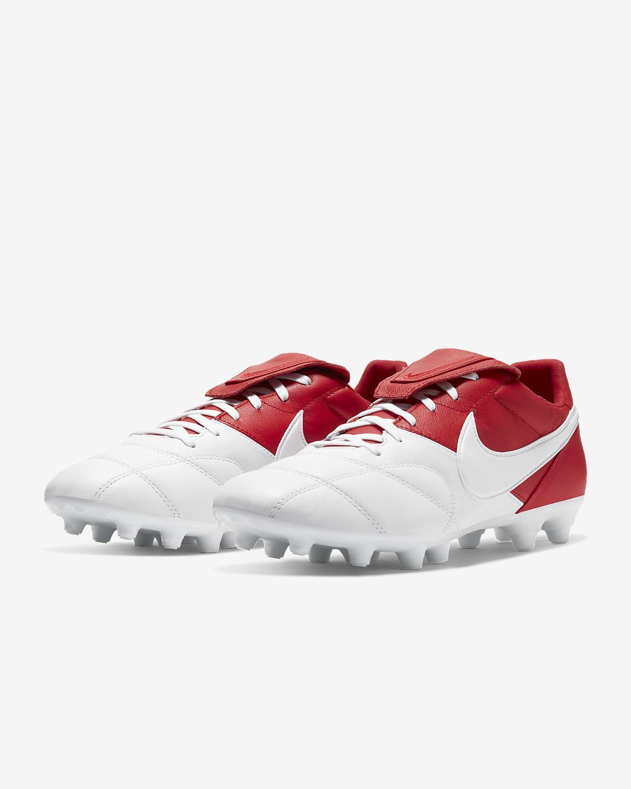 nike premier ii fg red white shoes