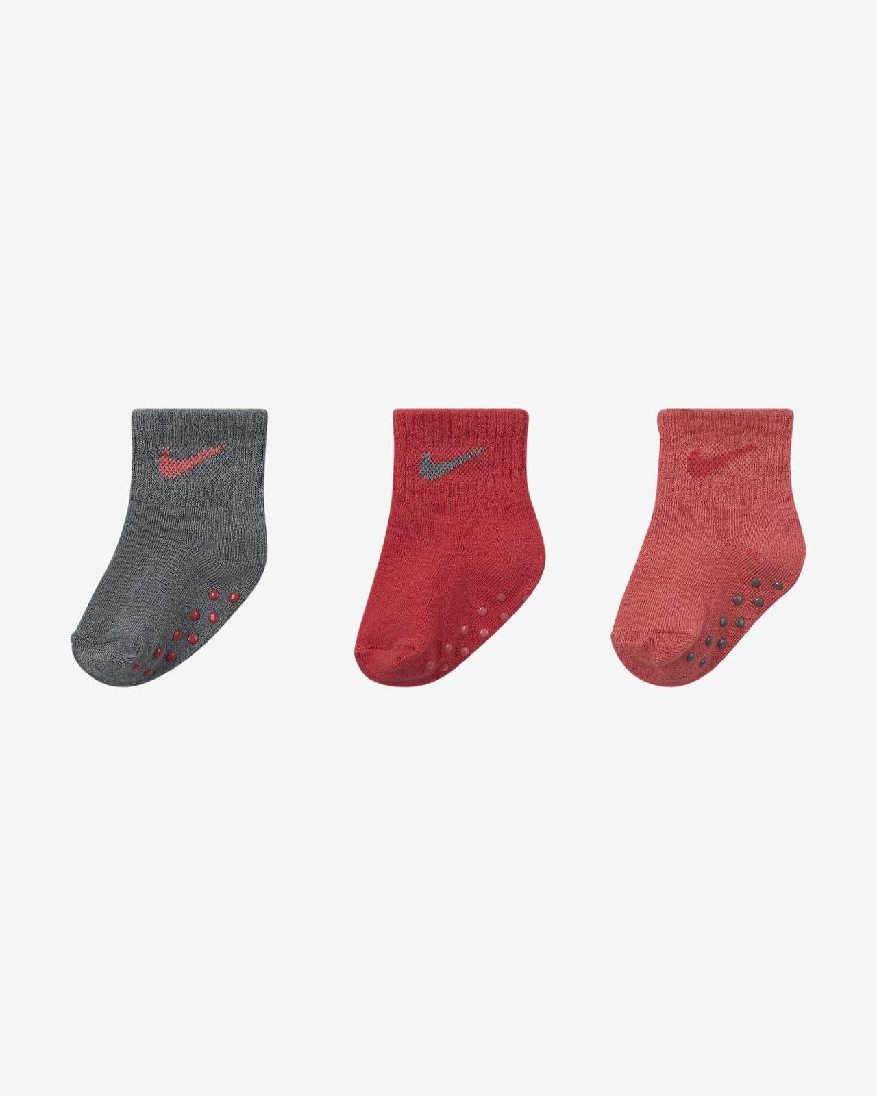 Calcetines hasta el tobillo para bebé Nike (3 pares)