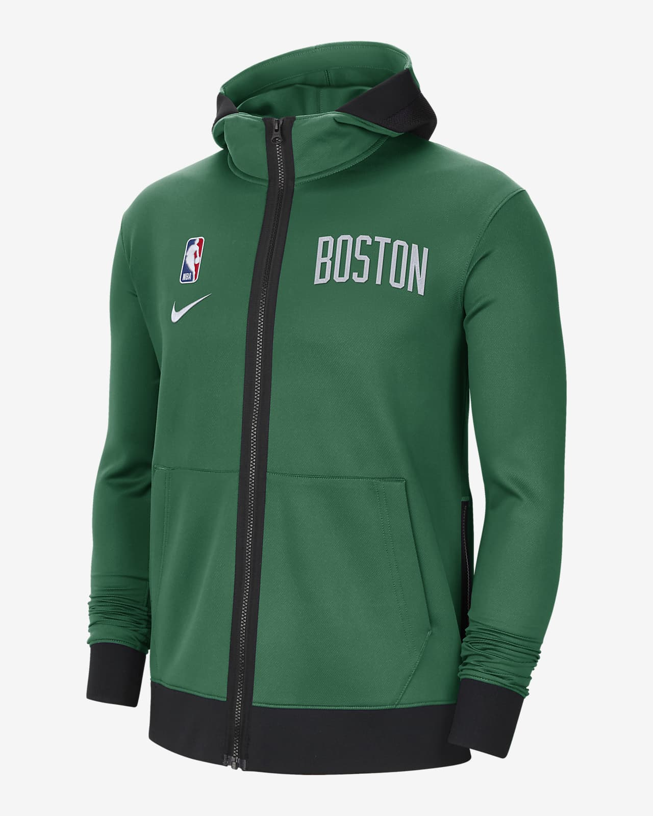 Boston Celtics Showtime Nike Therma Flex NBA-hættetrøje til mænd