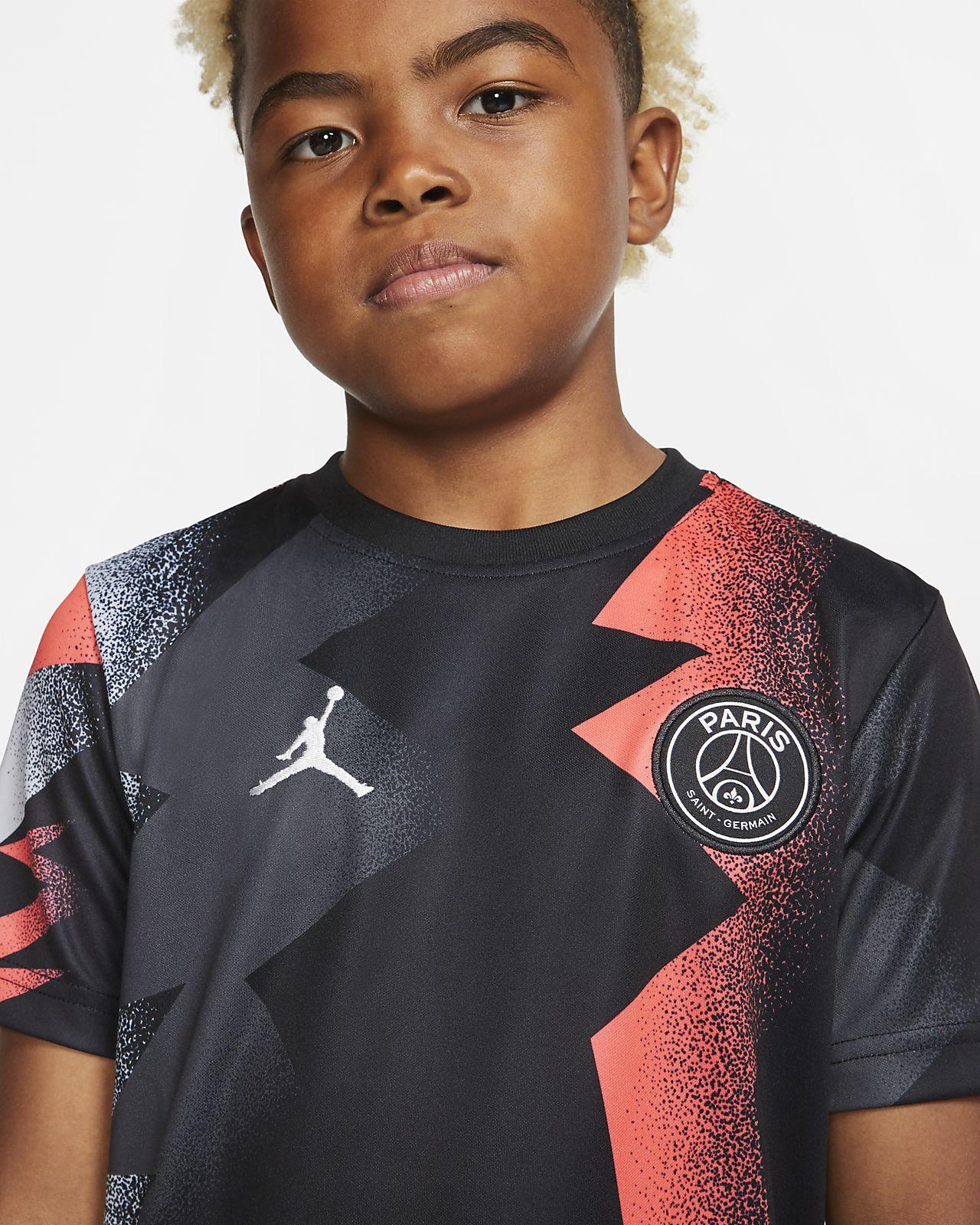 Dziecięca koszulka piłkarska z krótkim rękawem Jordan x Paris Saint Germain
