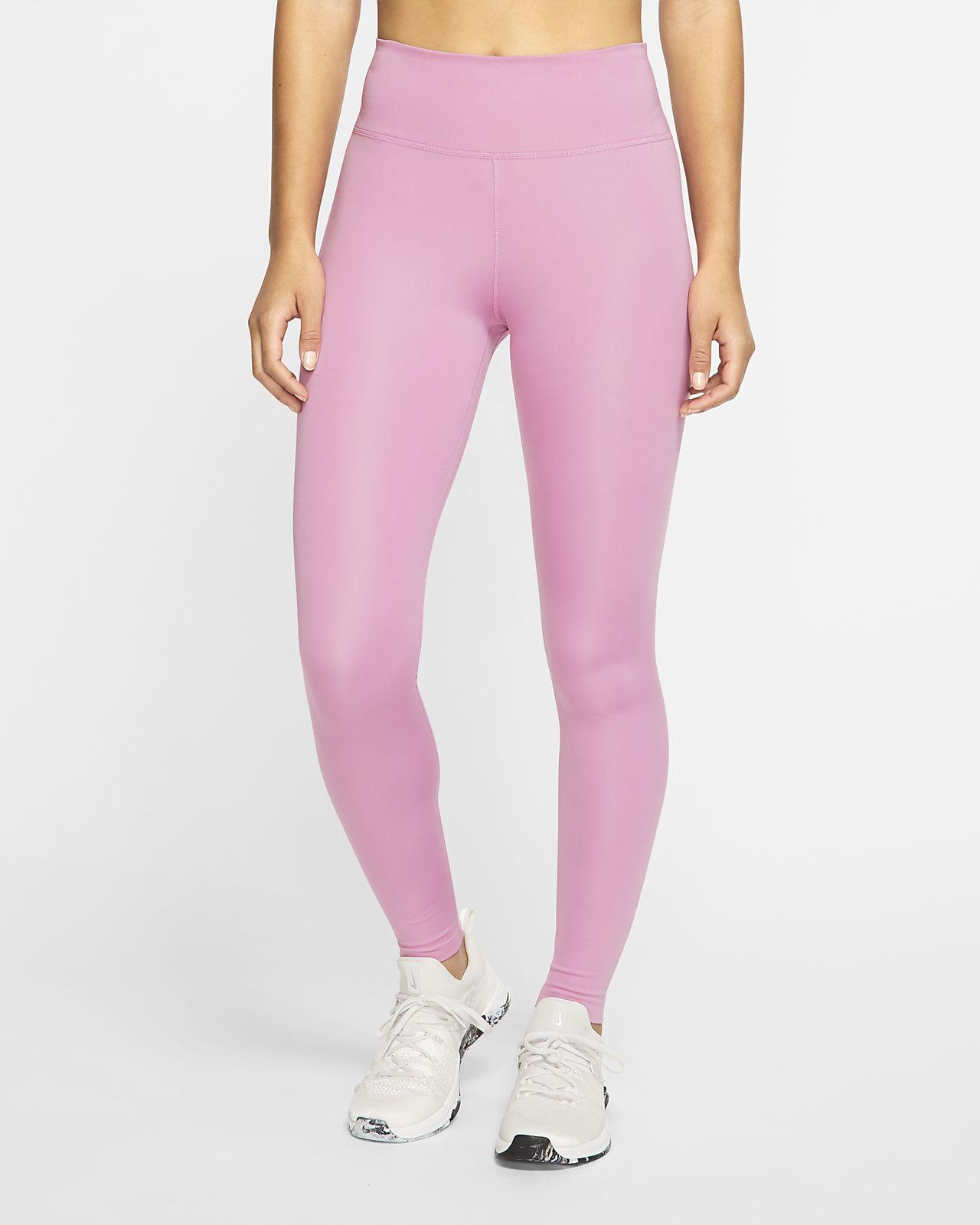 Nike One Luxe Damestights met halfhoge taille