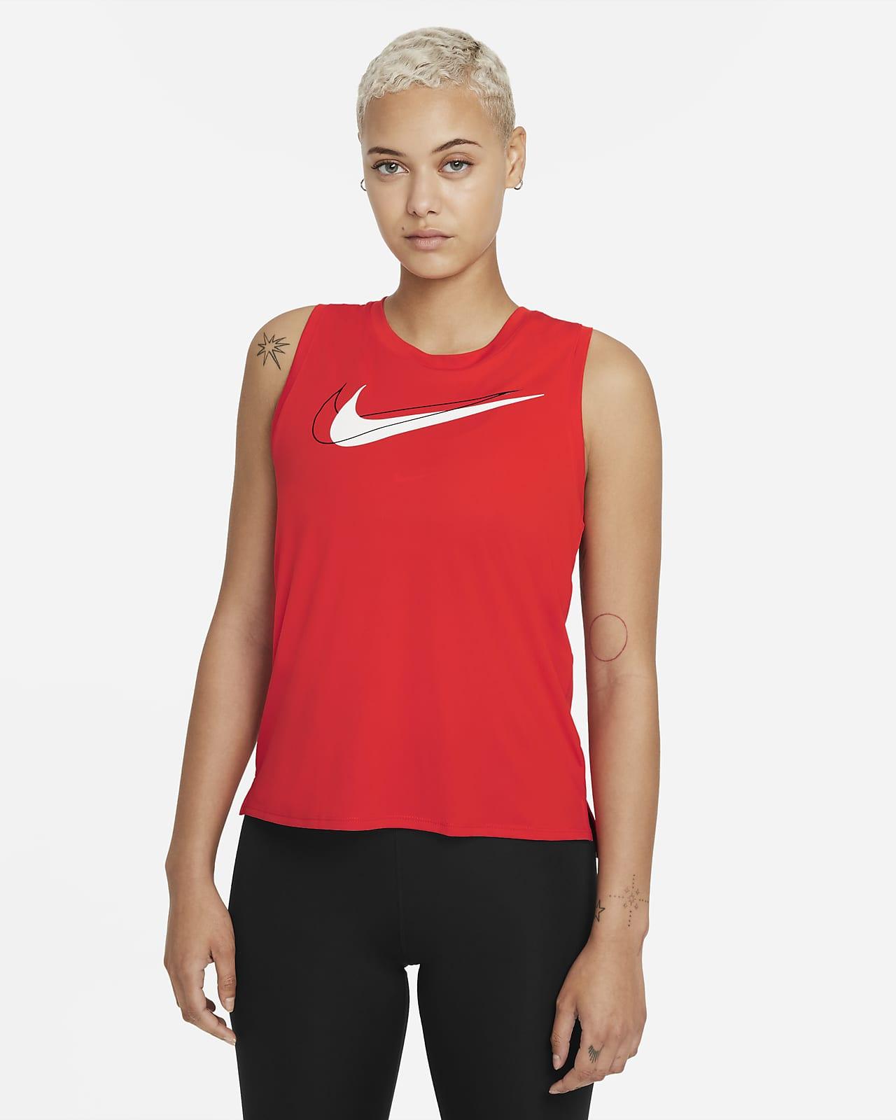 เสื้อกล้ามวิ่งผู้หญิง Nike Dri-FIT Swoosh Run