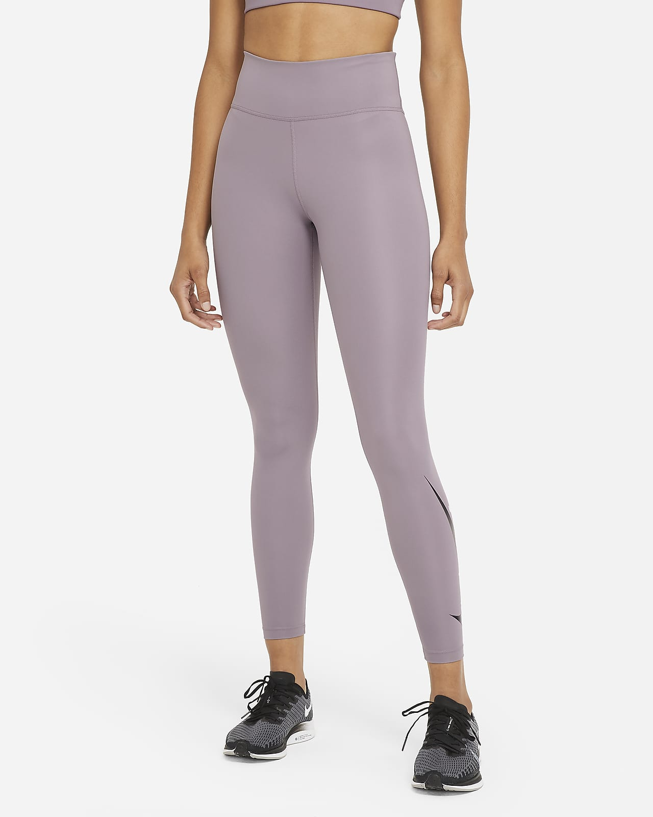 Nike Swoosh Run 女款中腰跑步九分內搭褲