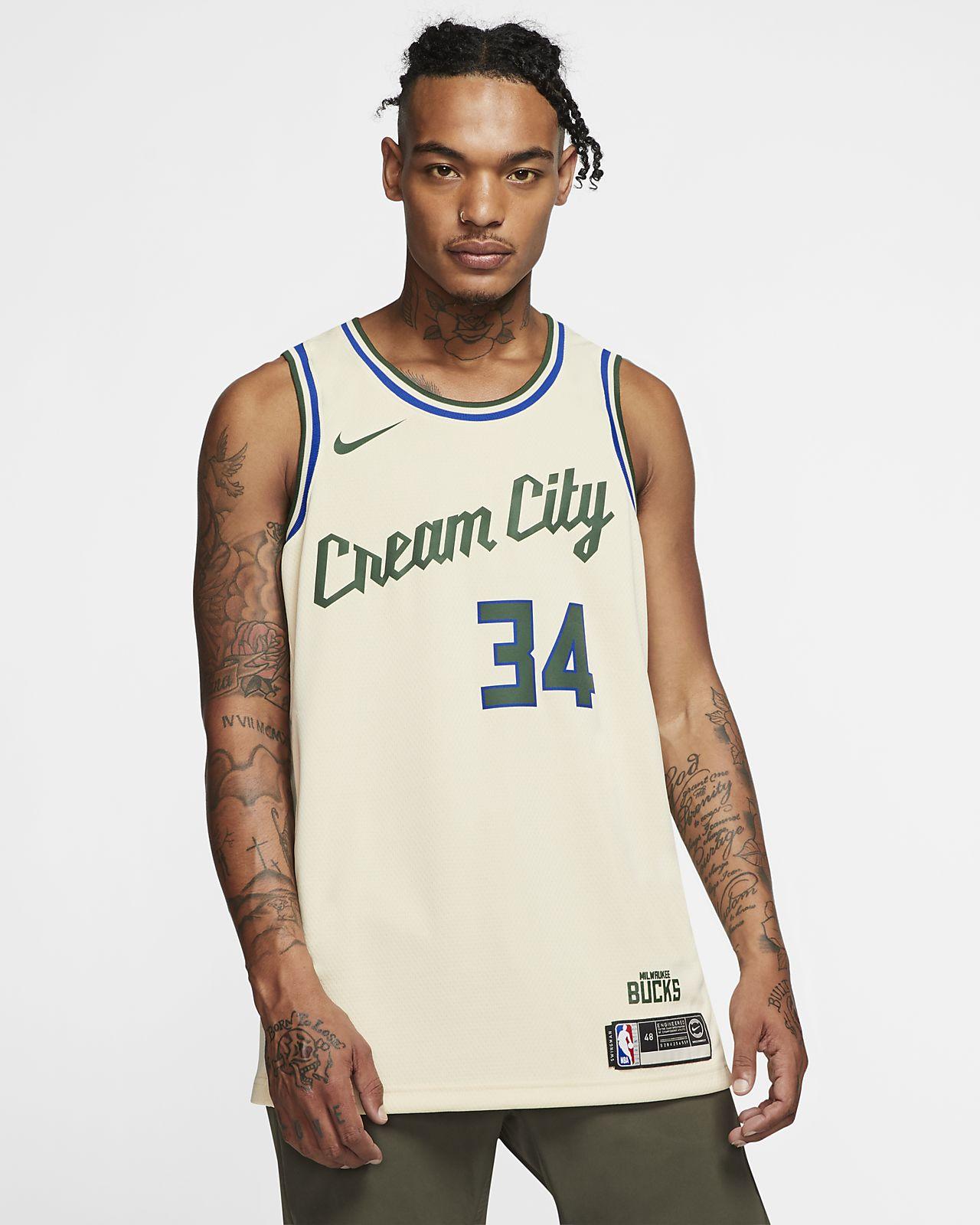 Giannis Antetokounmpo Bucks – City Edition Nike NBA Swingman trøje