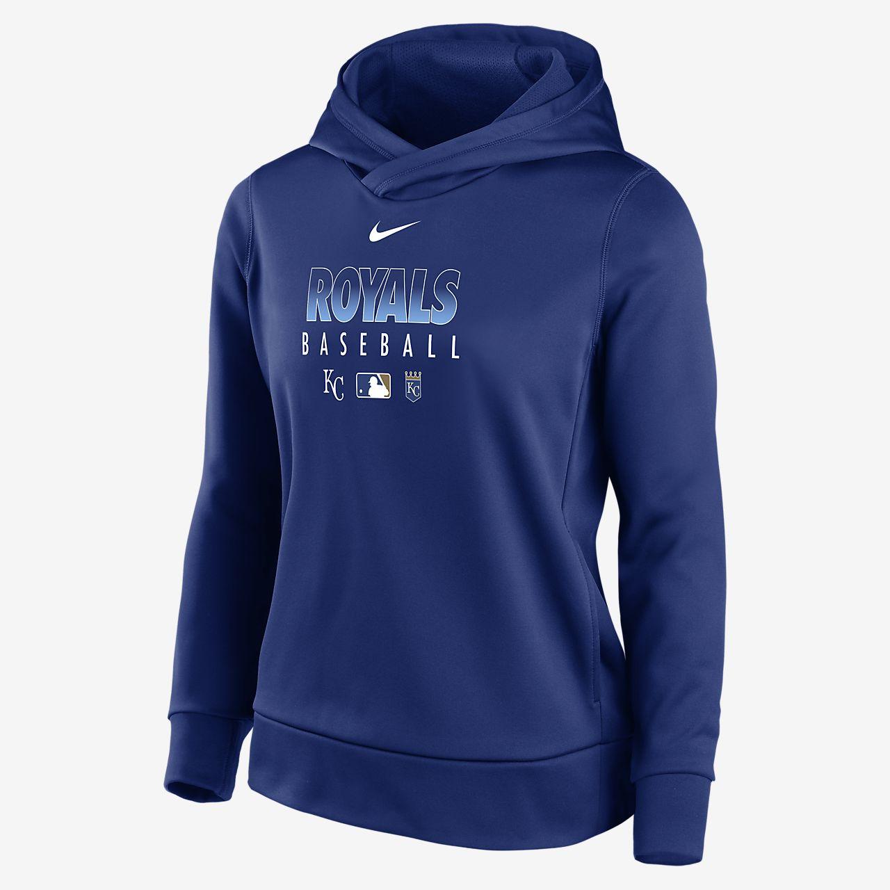 Nike Therma (MLB Kansas City Royals) Women's Pullover Hoodie