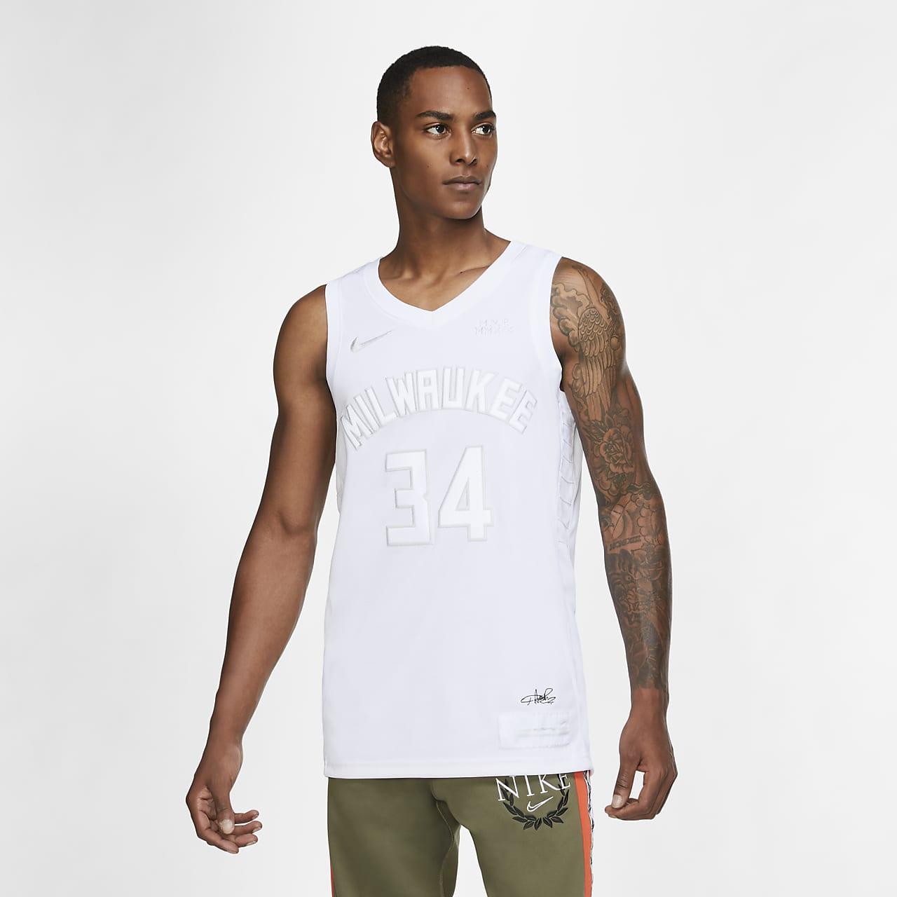 เสื้อแข่ง Nike NBA ผู้ชาย Giannis Antetokounmpo Bucks MVP