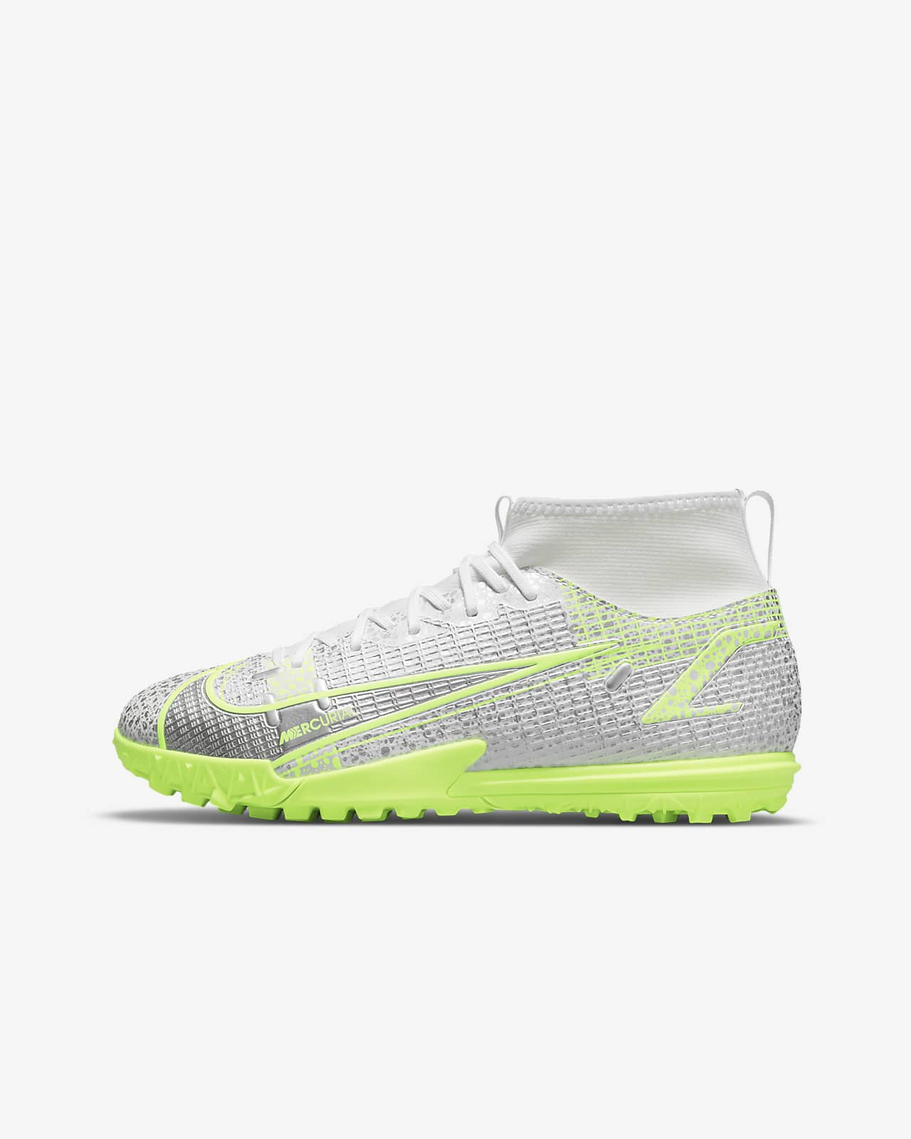 Nike Jr. Mercurial Superfly 8 Academy TF Fußballschuh für Kunstrasen für jüngere/ältere Kinder