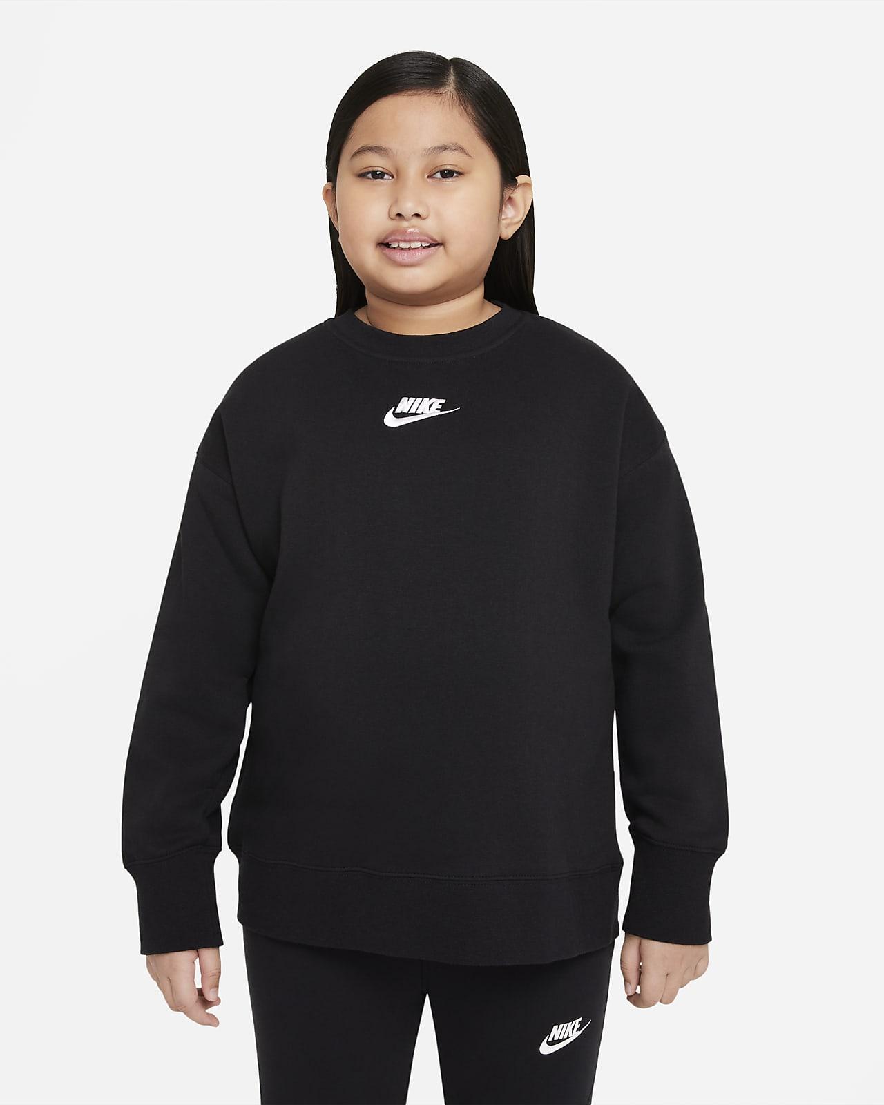 Nike Sportswear Club Fleece Genç Çocuk (Kız) Crew Üstü (Geniş Beden)