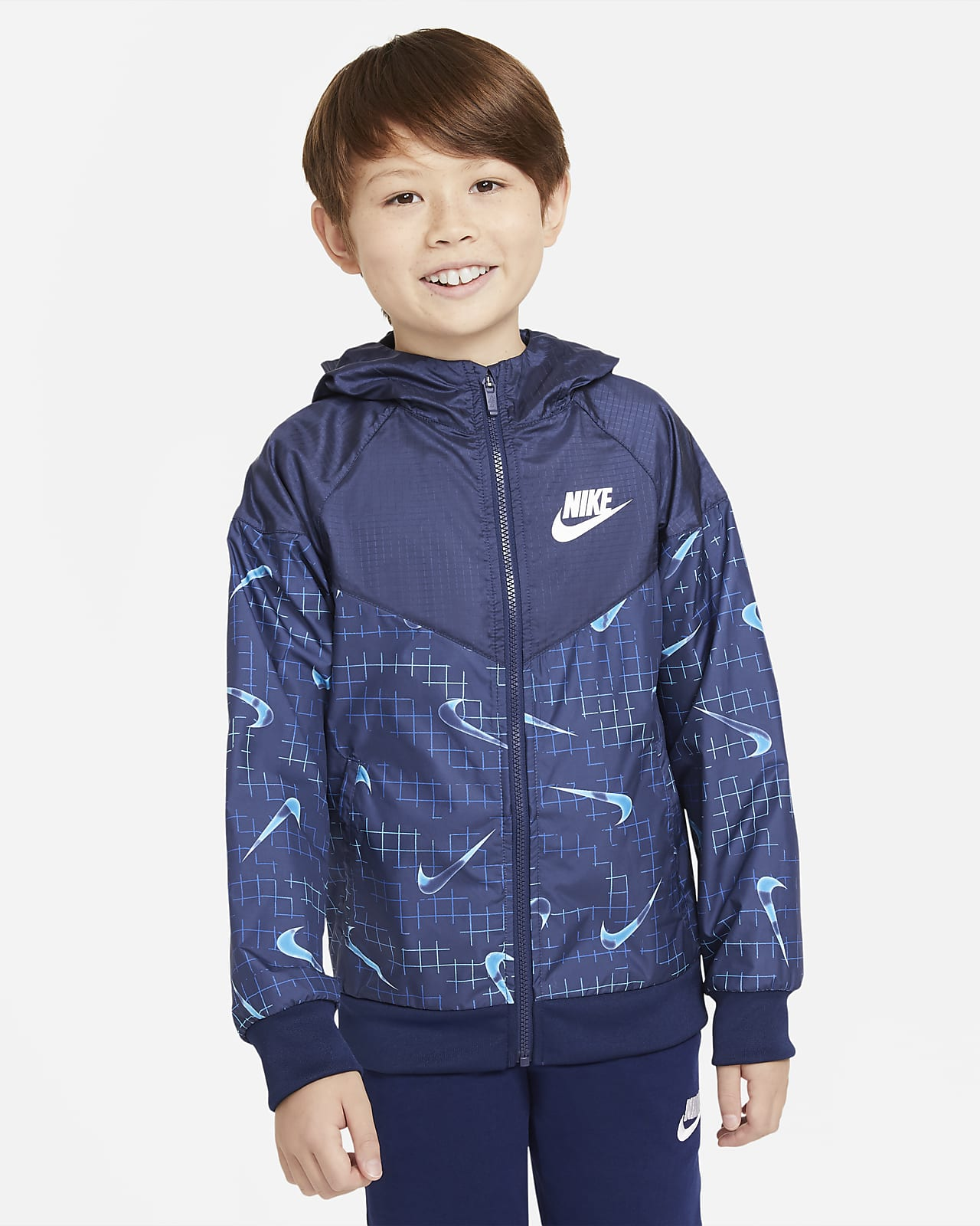 Bunda Nike Sportswear Windrunner pro větší děti (chlapce)