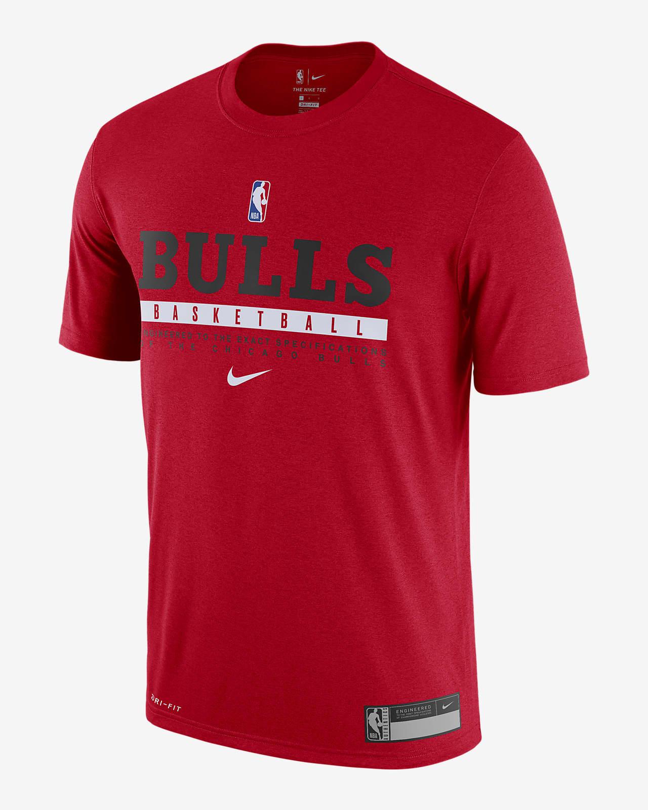Ανδρικό T-Shirt Nike Dri-FIT NBA Σικάγο Μπουλς Practice