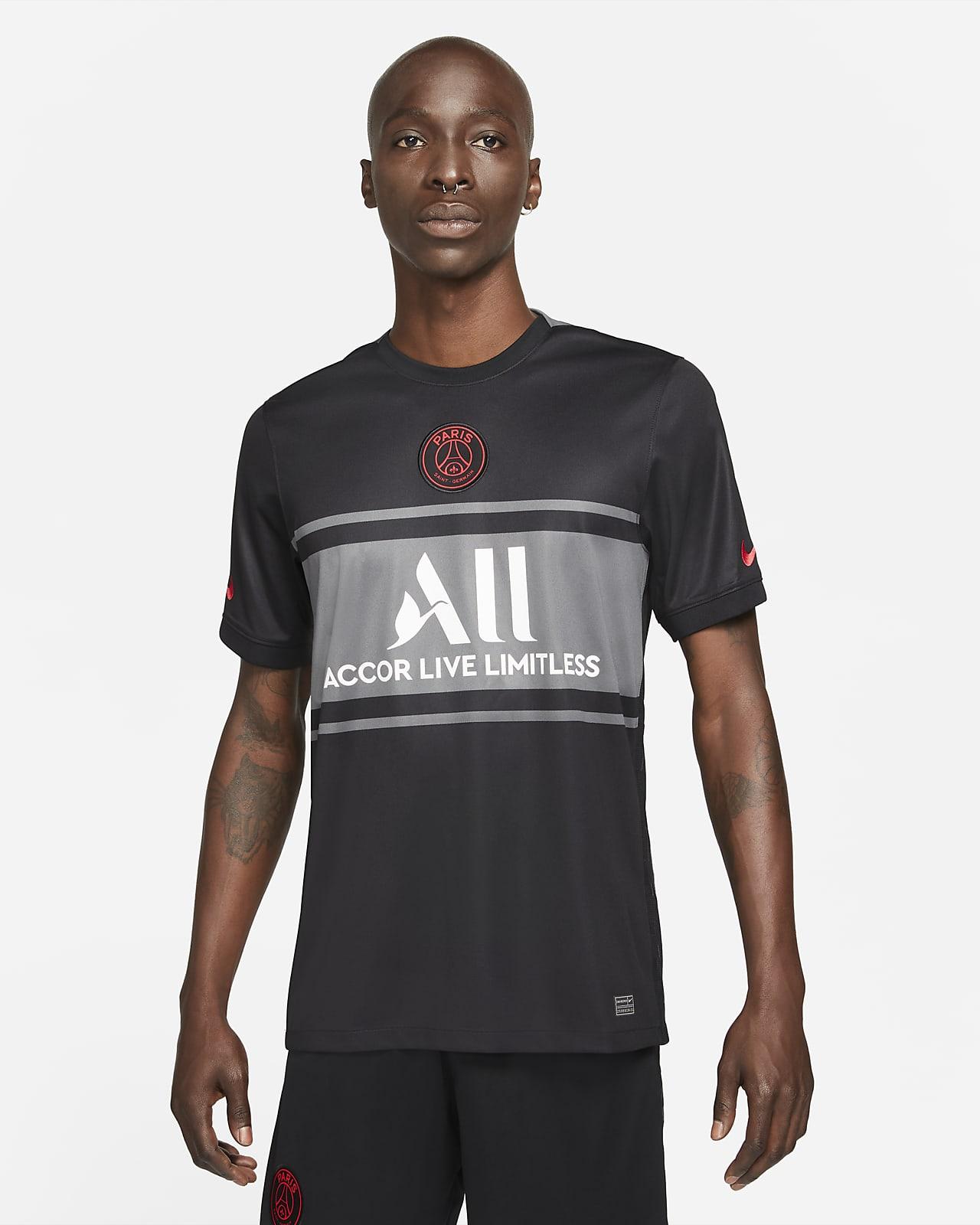 Camisola de futebol Nike Dri-FIT do terceiro equipamento Stadium Paris Saint-Germain 2021/22 para homem