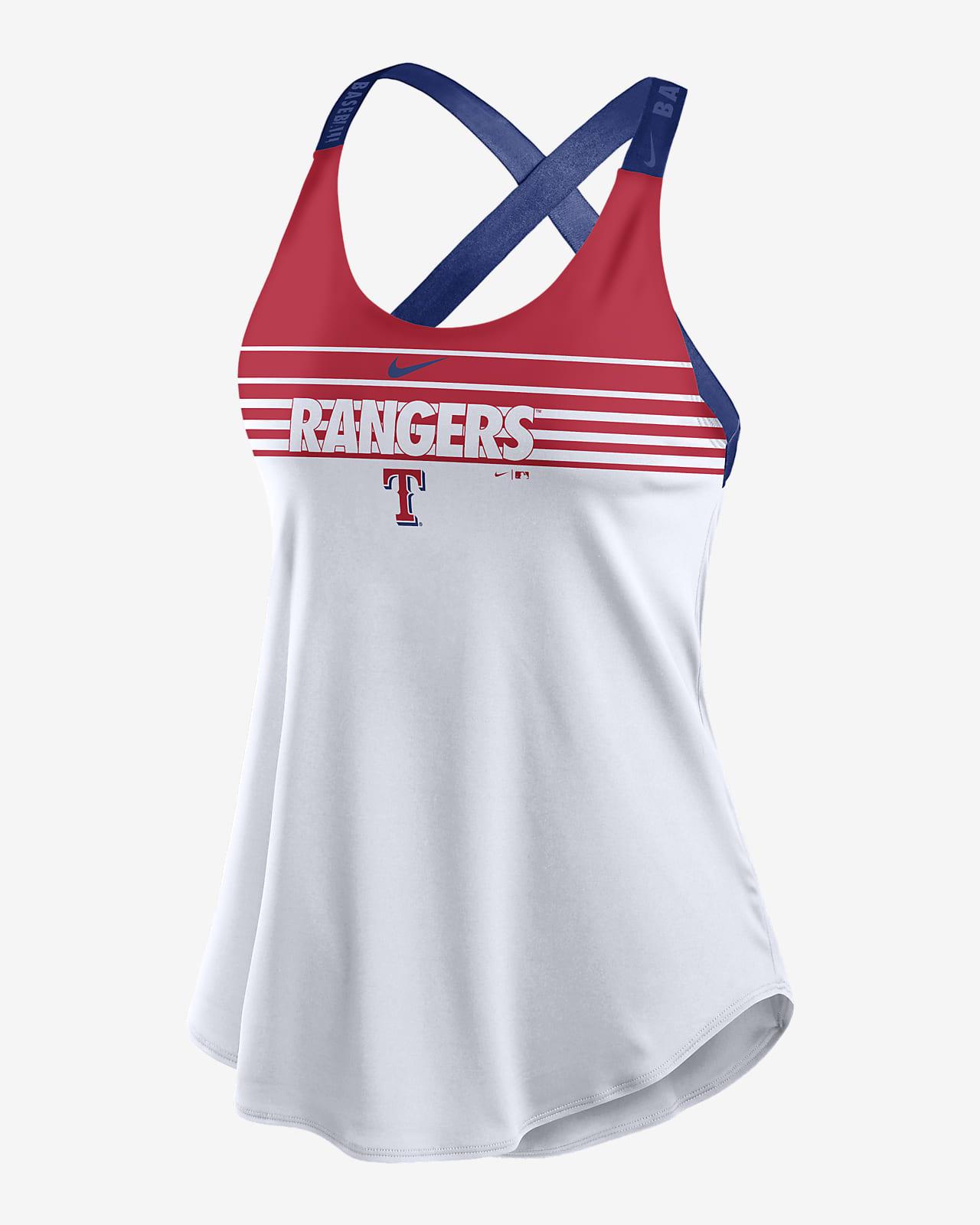 Nike Dri-FIT Stripe Elastika (MLB Texas Rangers) Women's Tank Top