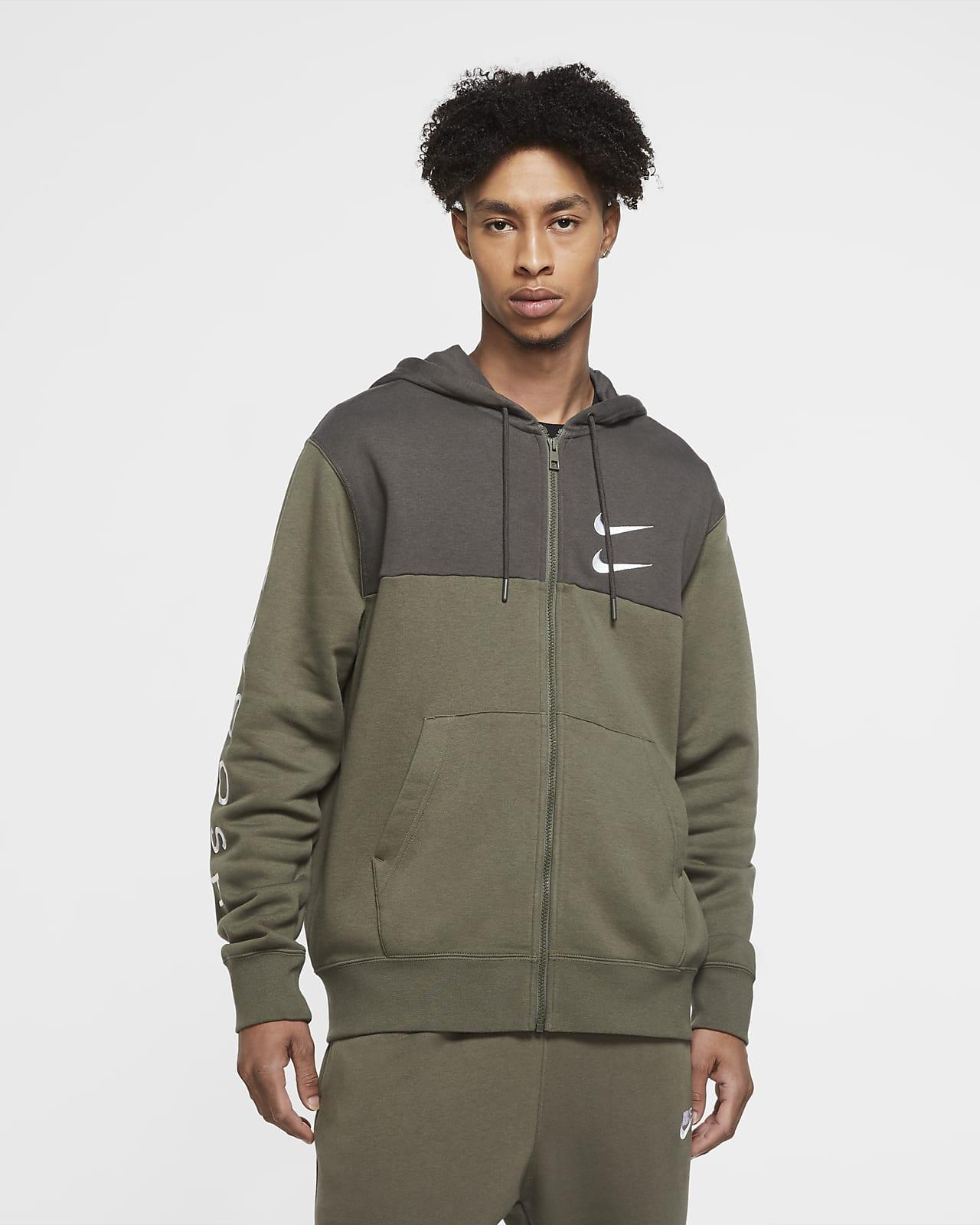 Huvtröja Nike Sportswear Swoosh med hel dragkedja för män