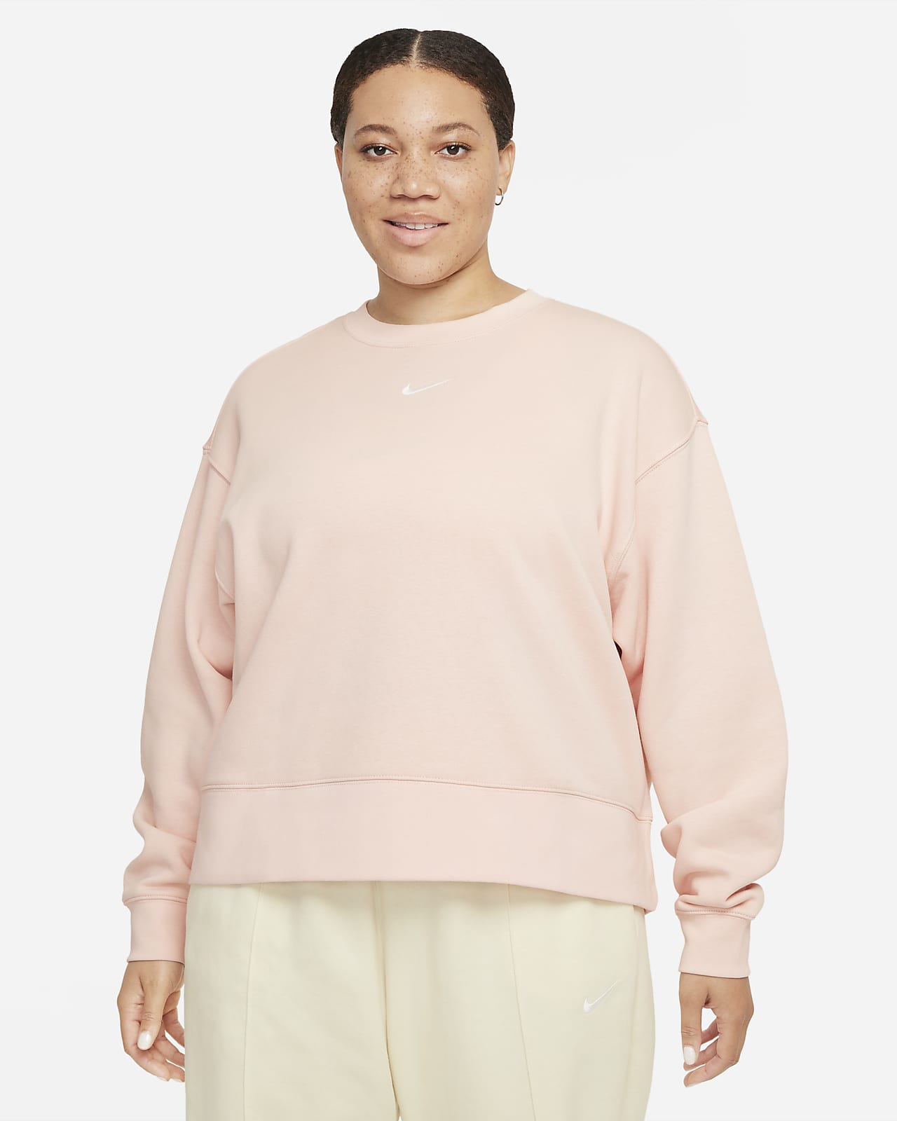 Женская флисовая толстовка оверсайз Nike Sportswear Collection Essentials (большие размеры)