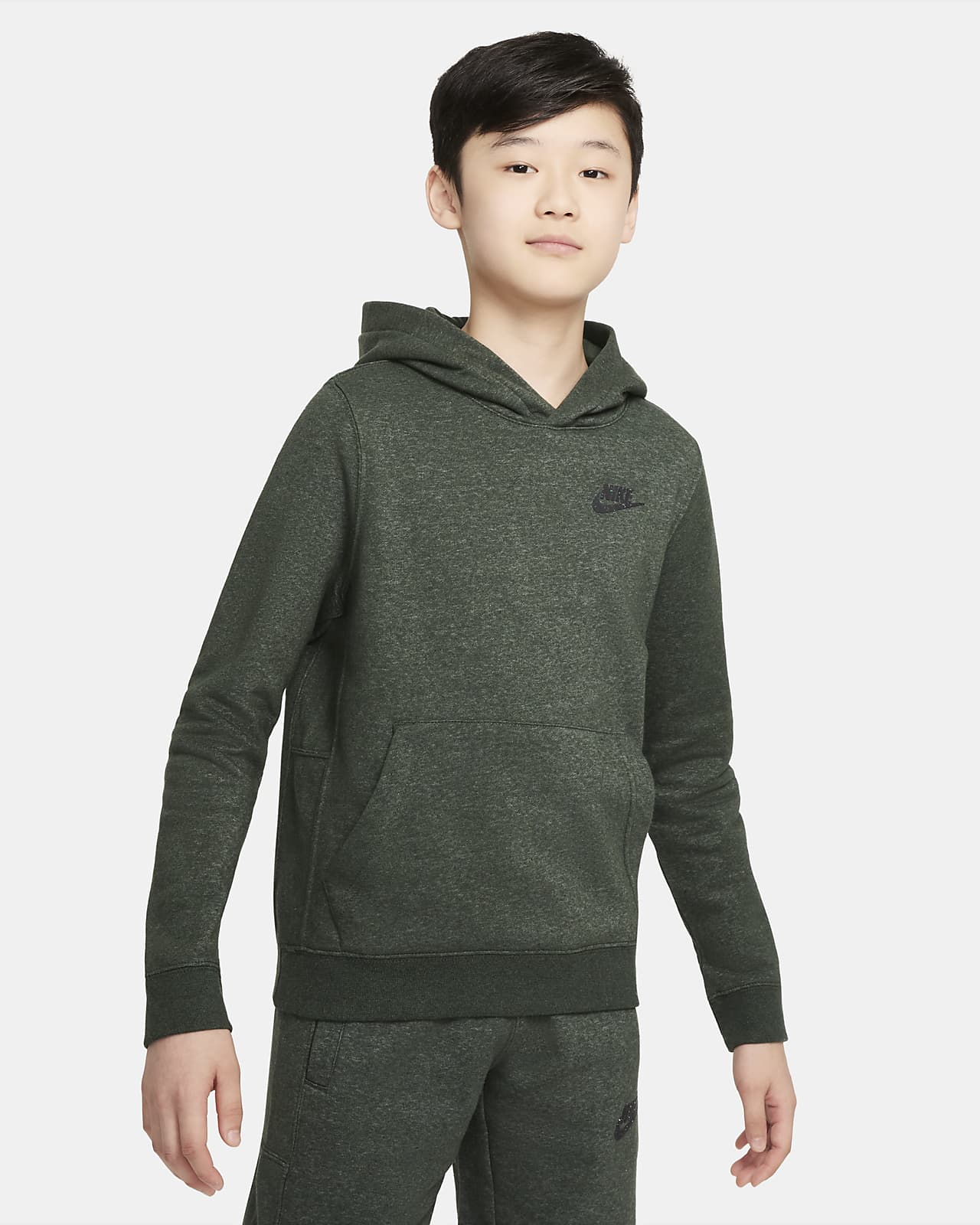 Nike Sportswear Zero kapucnis, belebújós pulóver nagyobb gyerekeknek