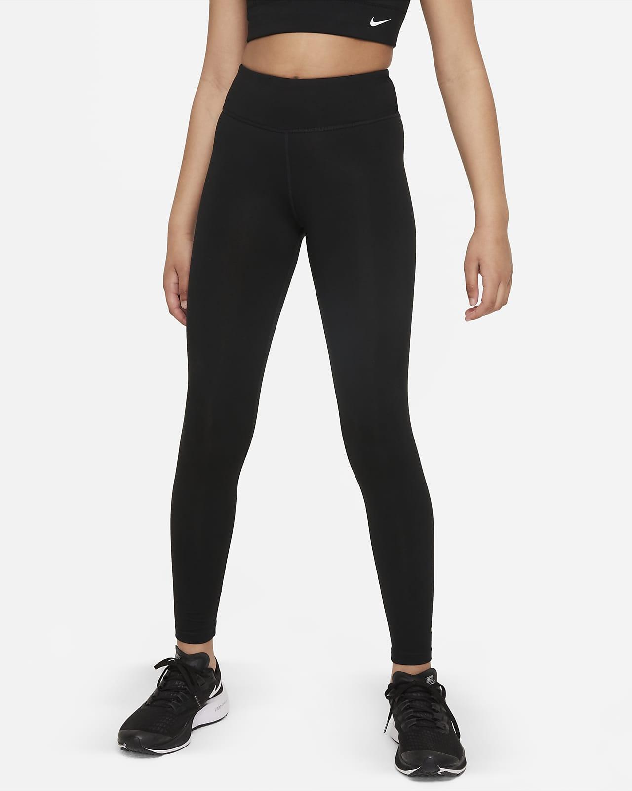 Nike Dri-FIT One Luxe Older Kids' (Girls') High-Rise Leggings