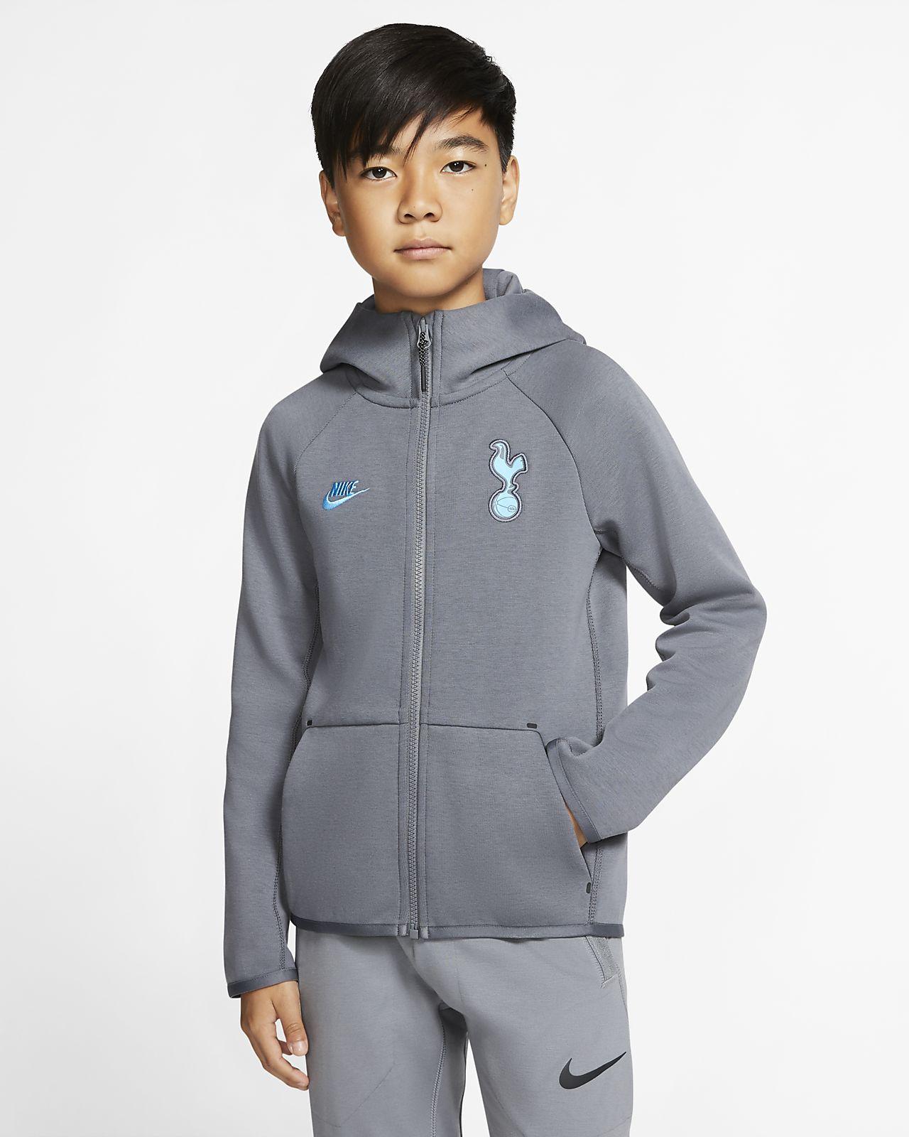Tottenham Hotspur Tech Fleece Essentials Hoodie met rits voor kids