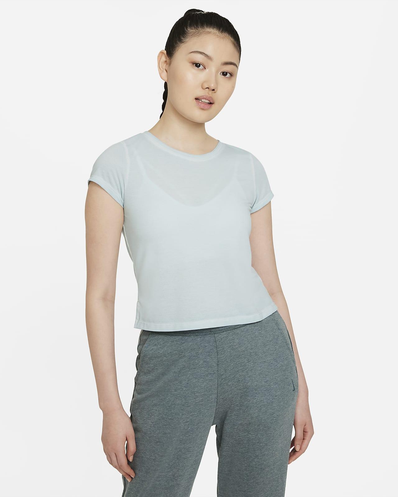 เสื้อแขนสั้นผู้หญิง Nike Yoga Dri-FIT