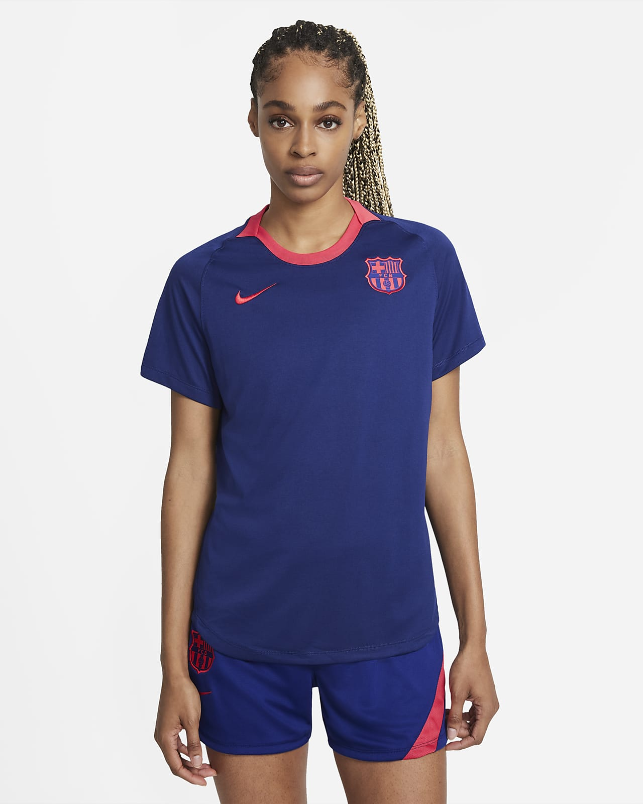 F.C. Barcelona Women's Short-Sleeve Football Top